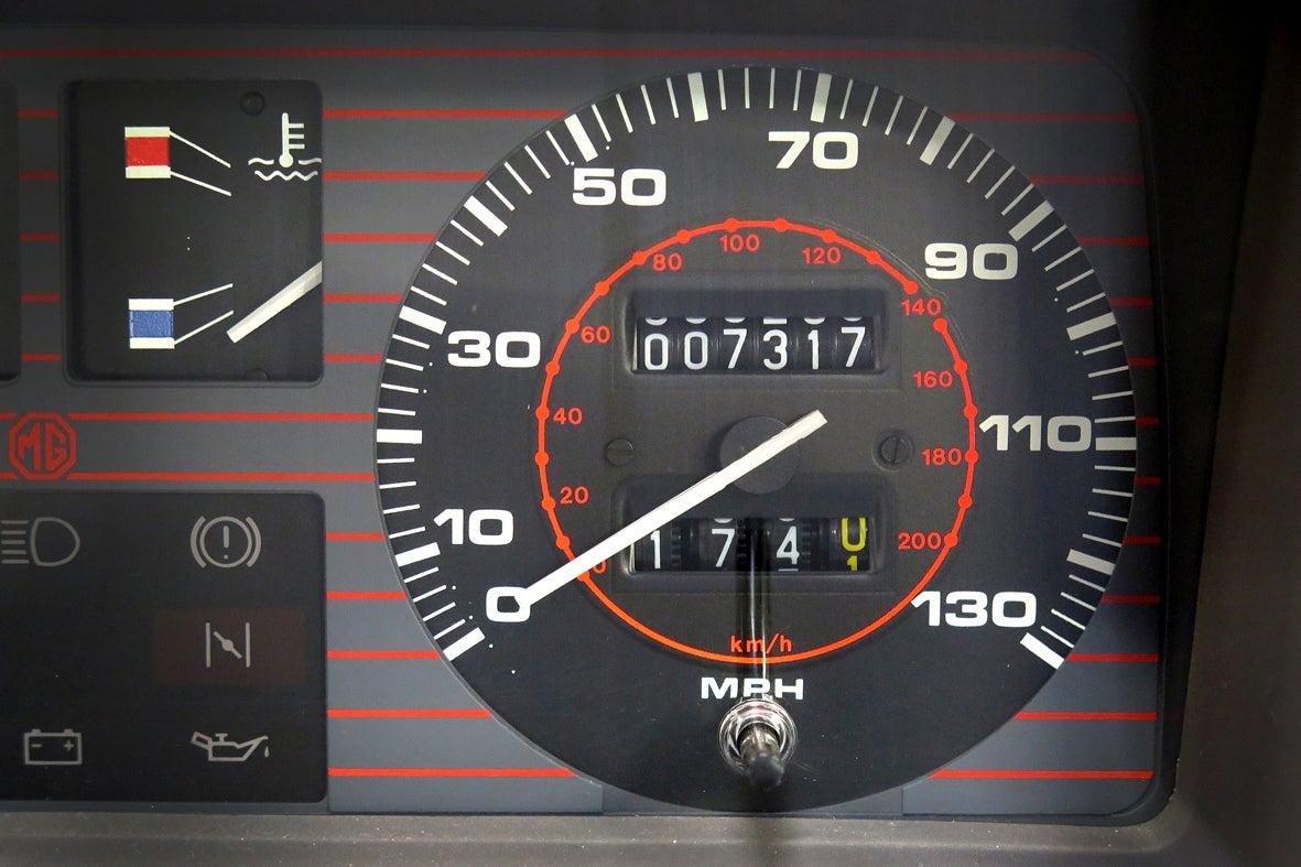 MG Metro turbo dash instrument speedo
