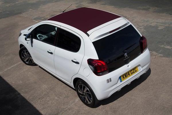 Peugeot 108 backleft birdseye exterior