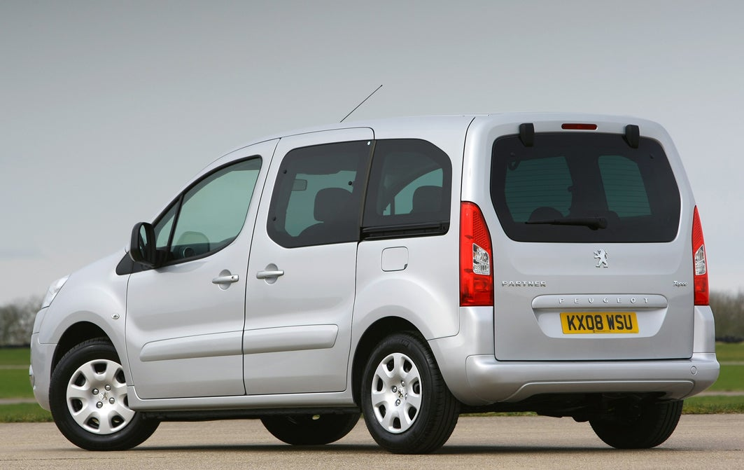 Peugeot Partner Tepee Rear View