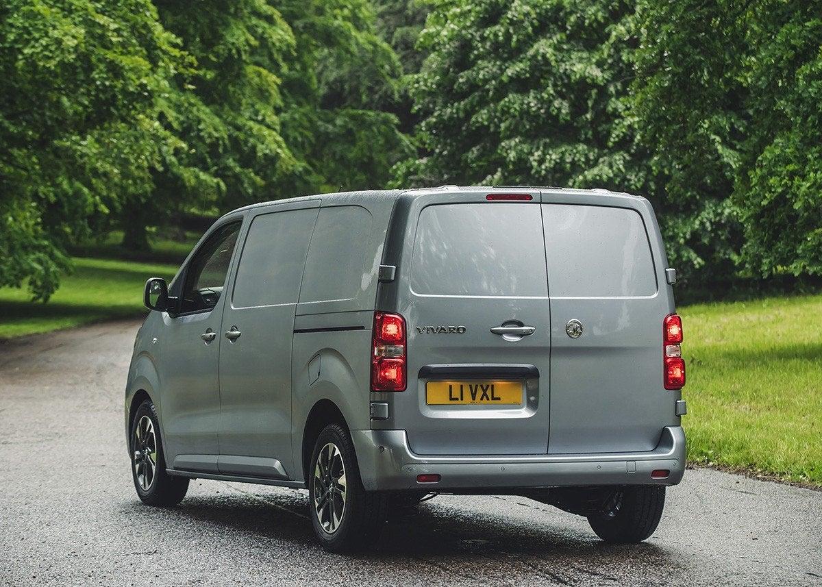 Vauxhall Vivaro Rear Side View