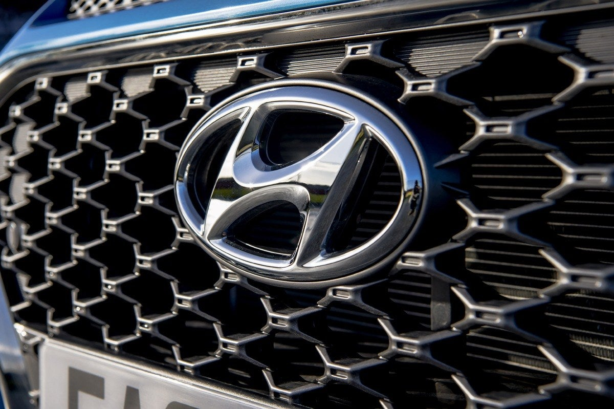 Hyundai badge on grille