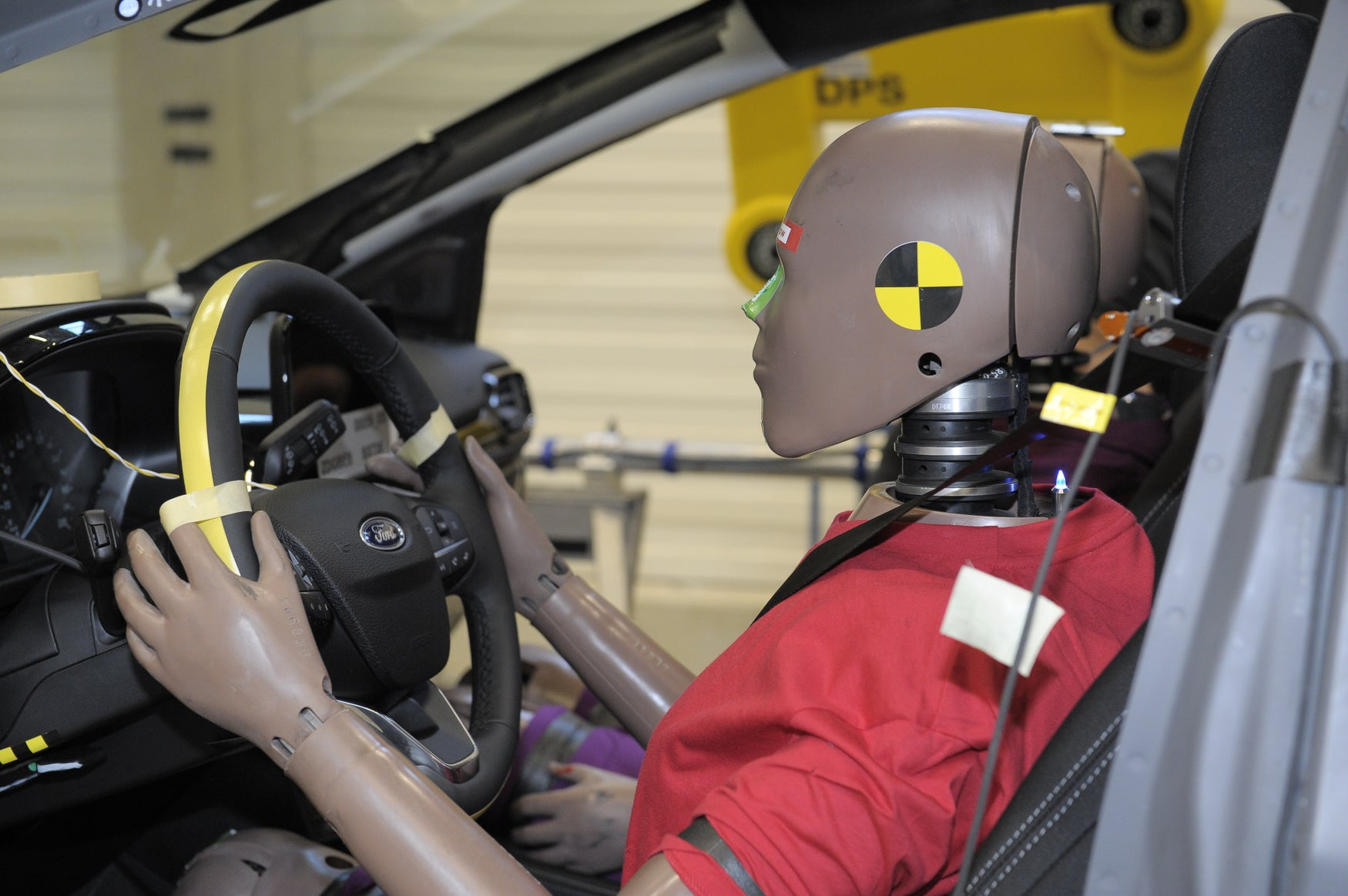 Crash test dummy in Ford