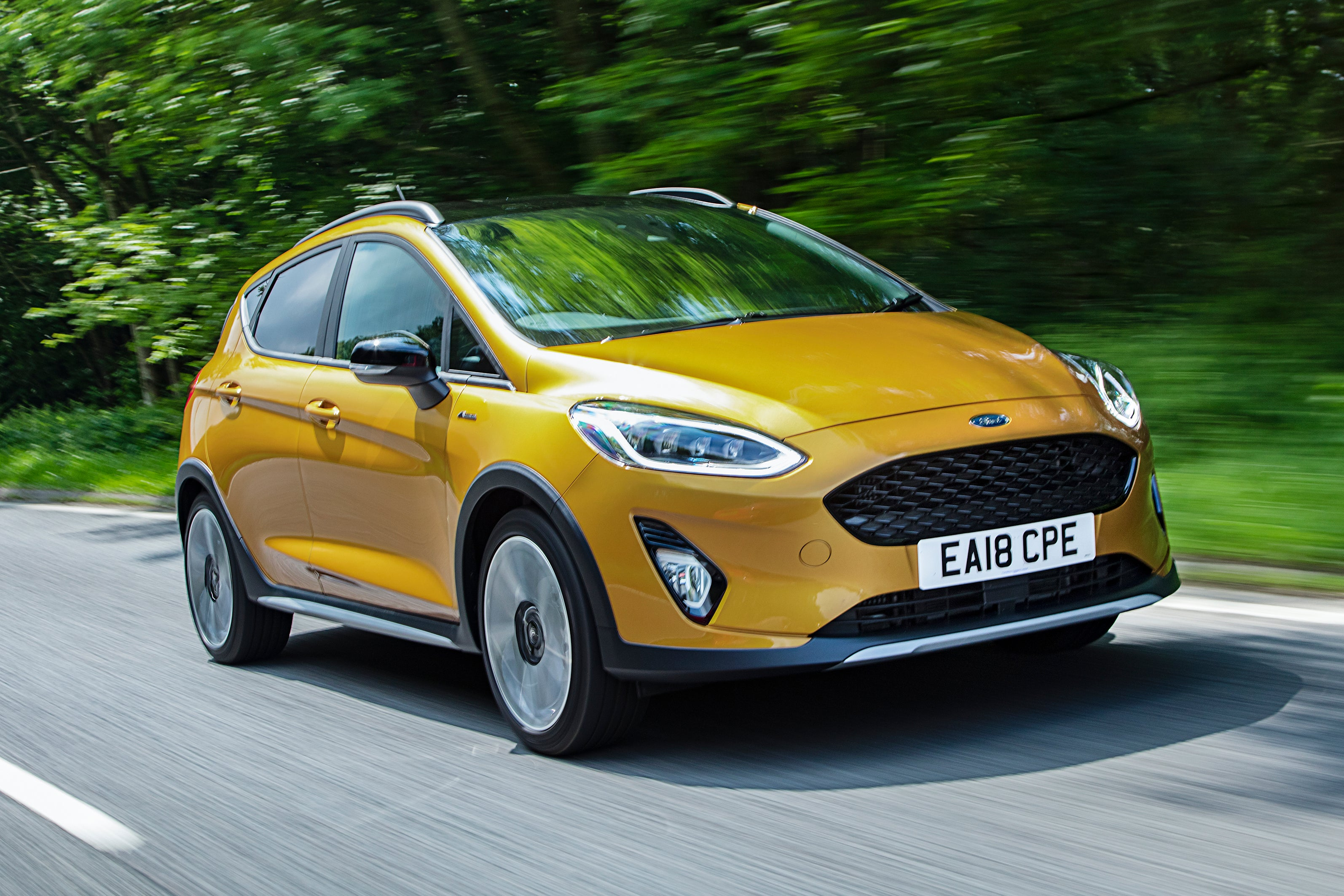Ford Fiesta Active on road