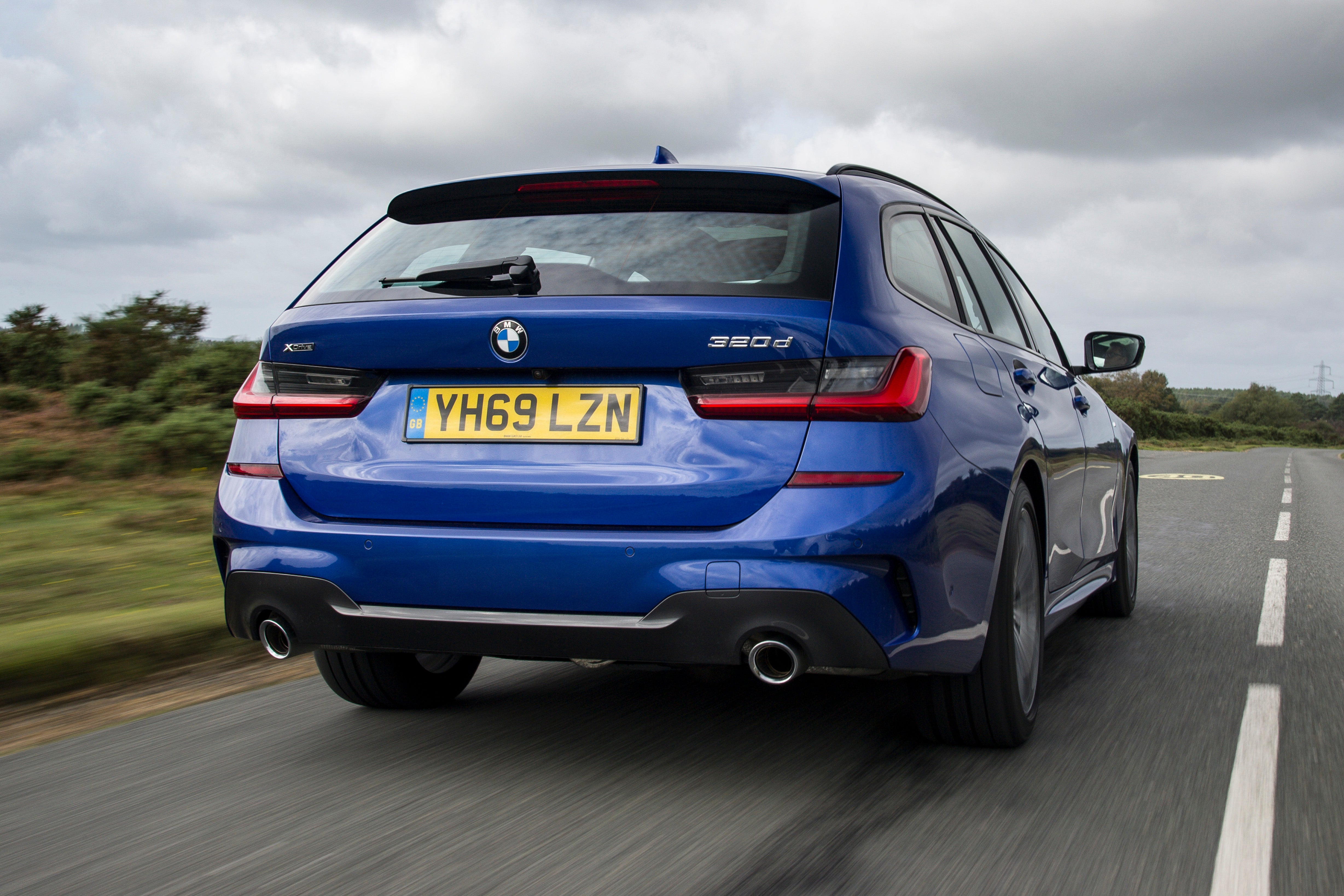 BMW 3 Series Touring Driving Back