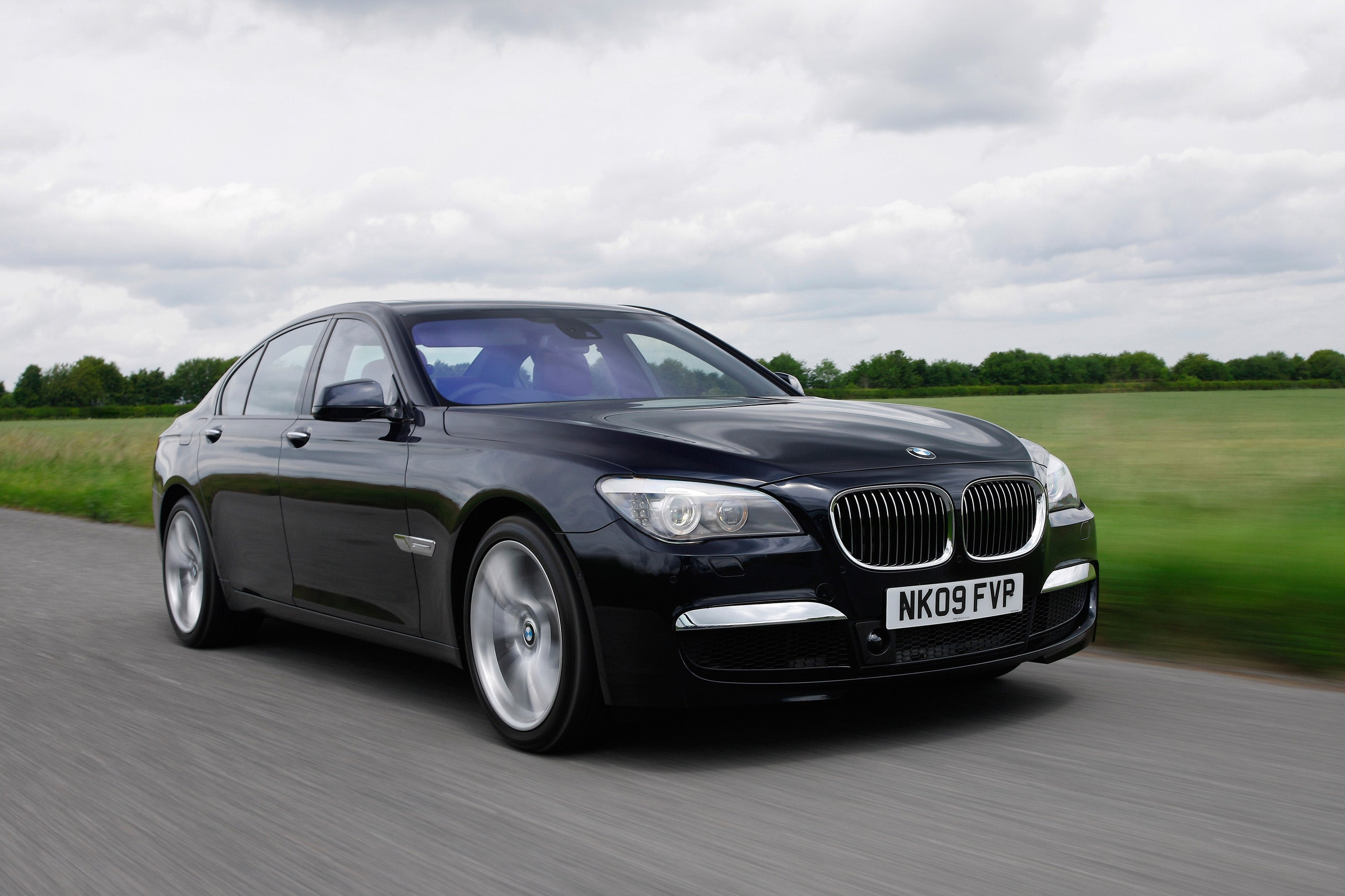 BMW 7 Series on road
