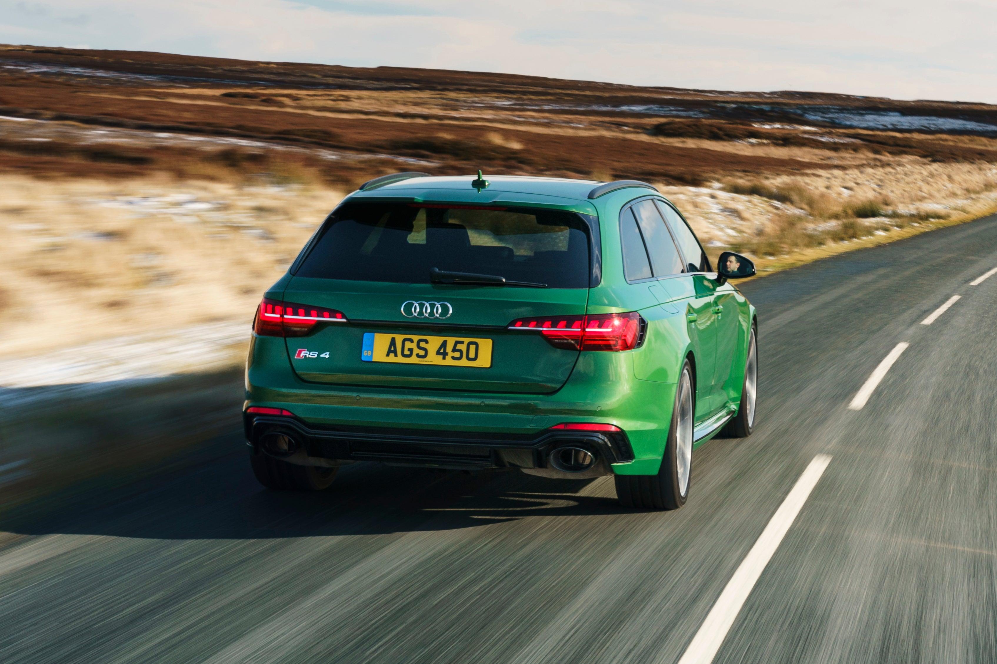 Audi RS4 Avant Driving Back