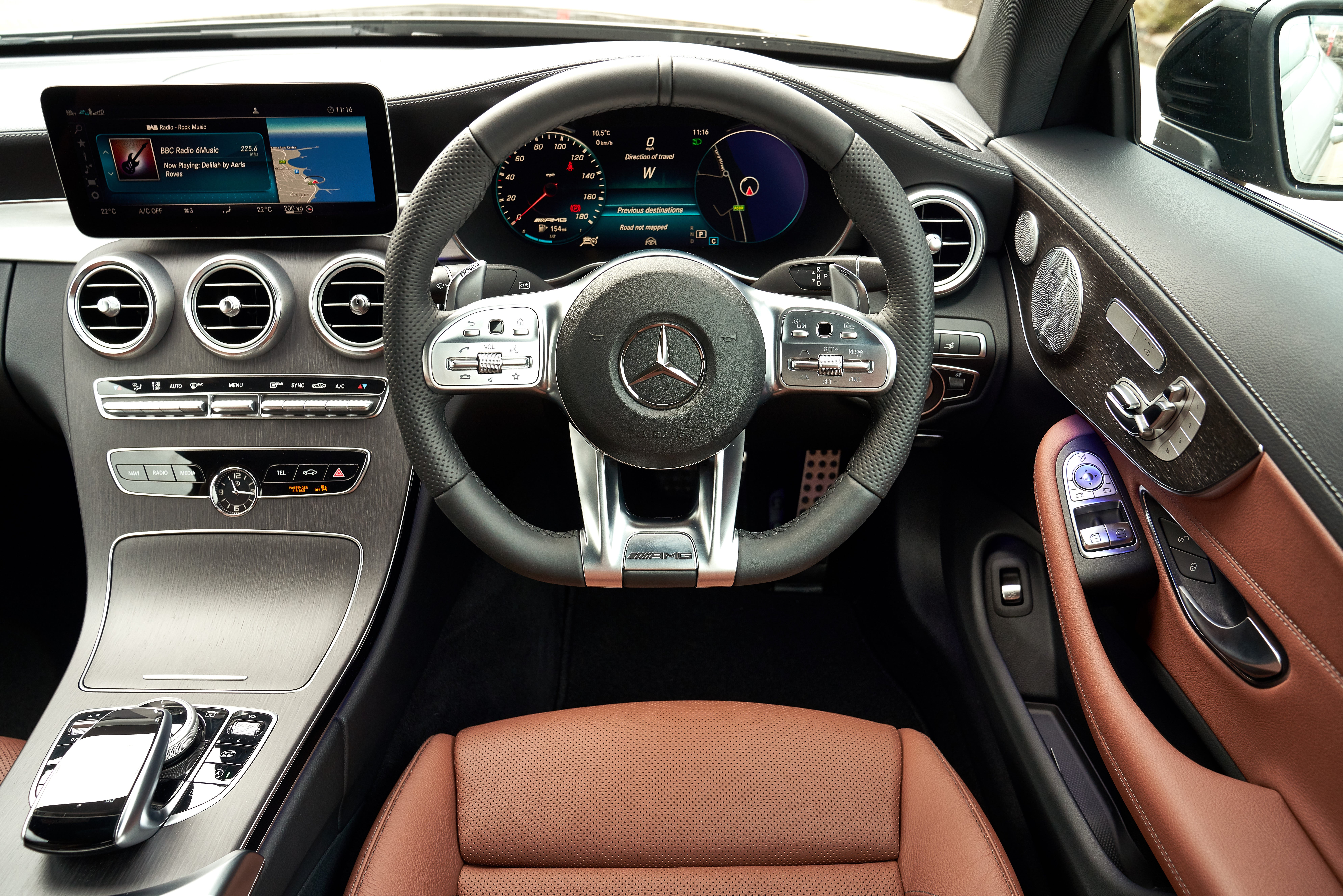 Mercedes C-Class Coupe front interior