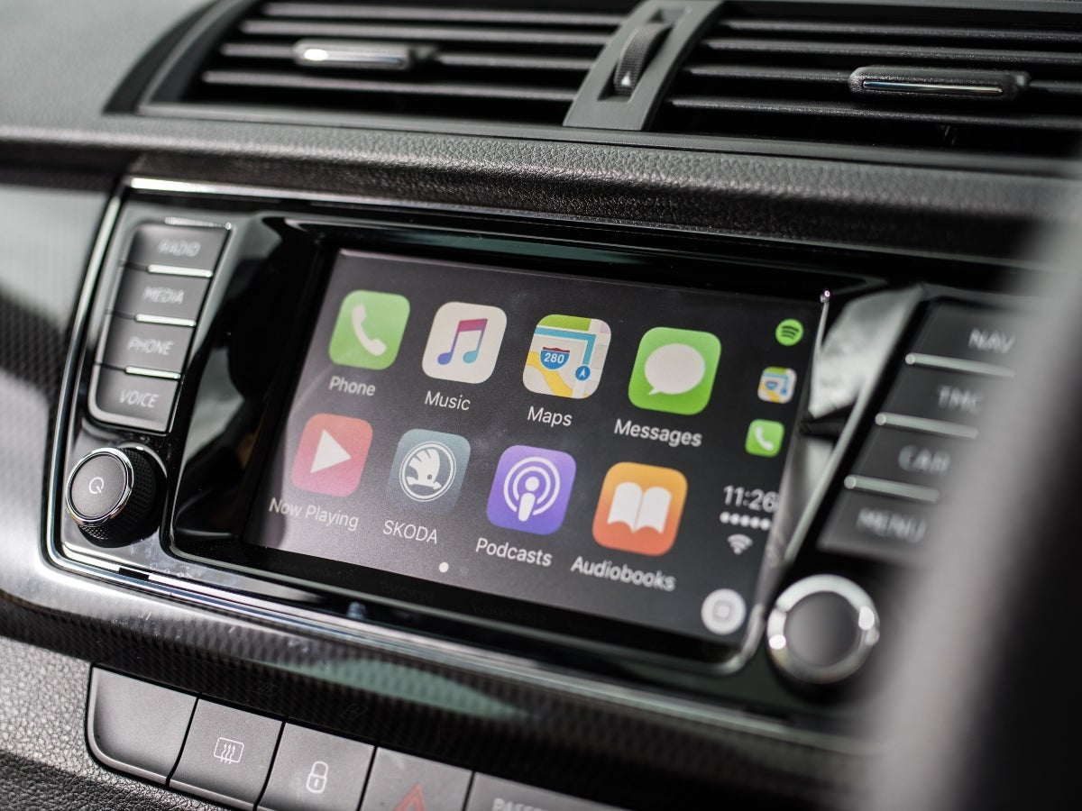 Apple CarPlay infotainment screen