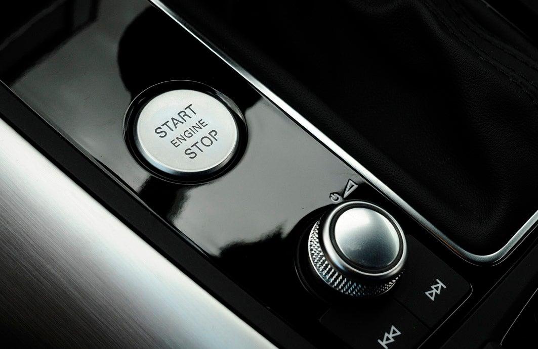 audi a6 start button