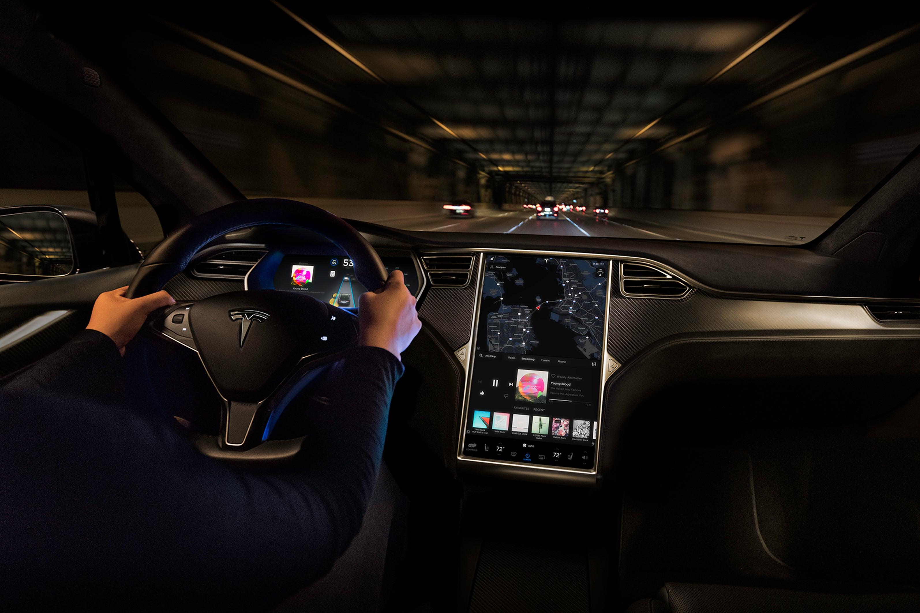 Tesla Model X Electric Infotainment