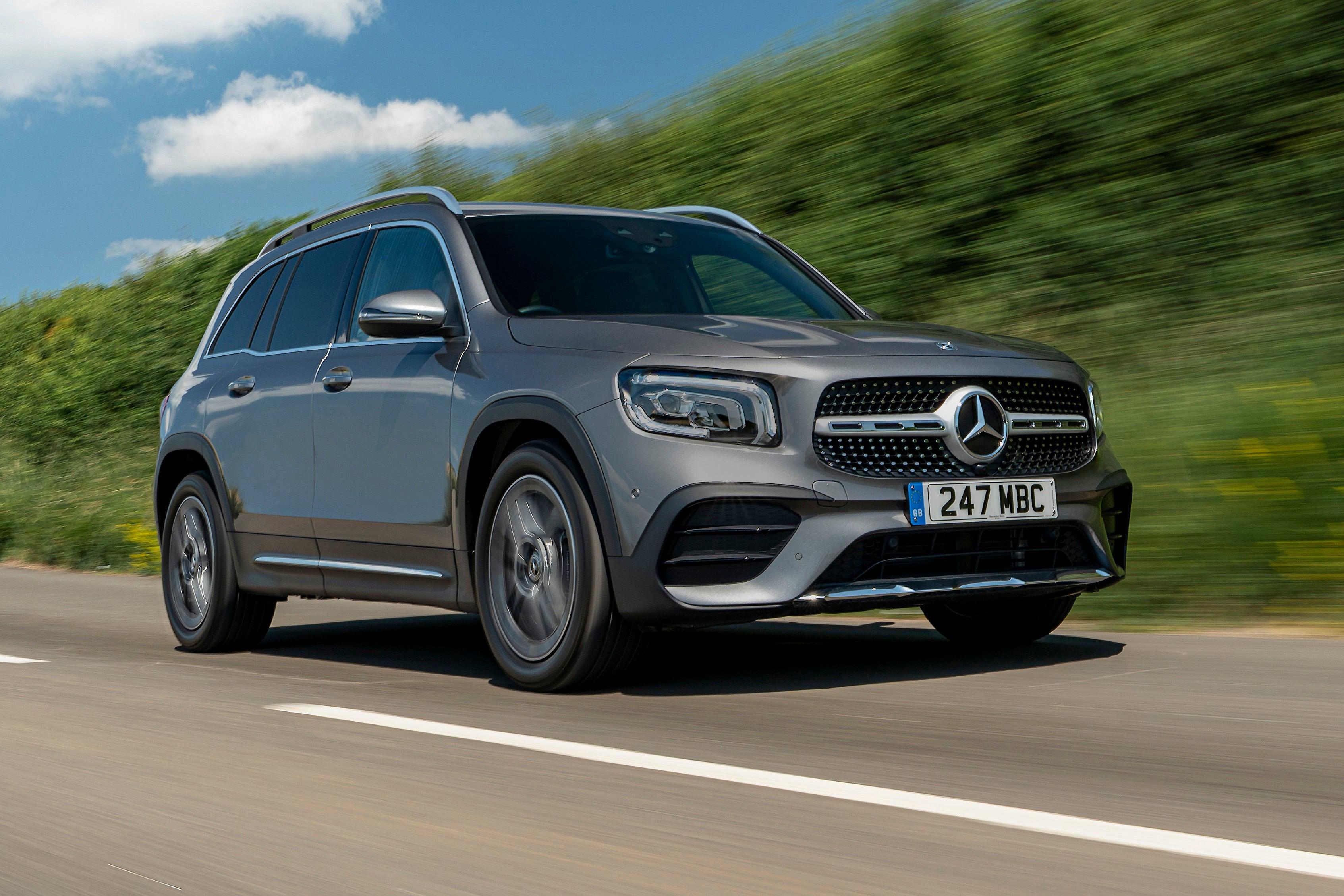 Mercedes GLB on road
