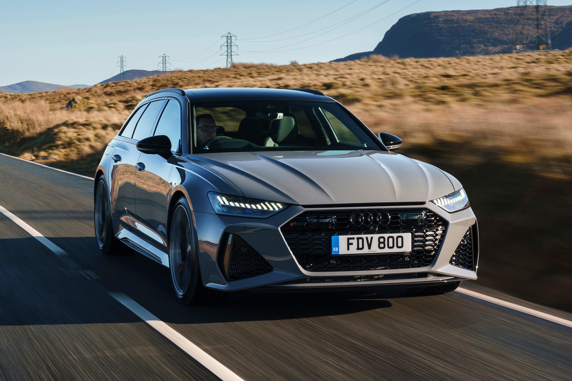 Audi RS6 Driving Front