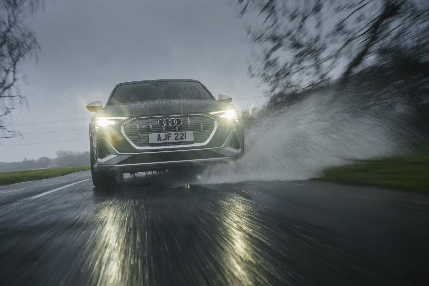 Audi on road