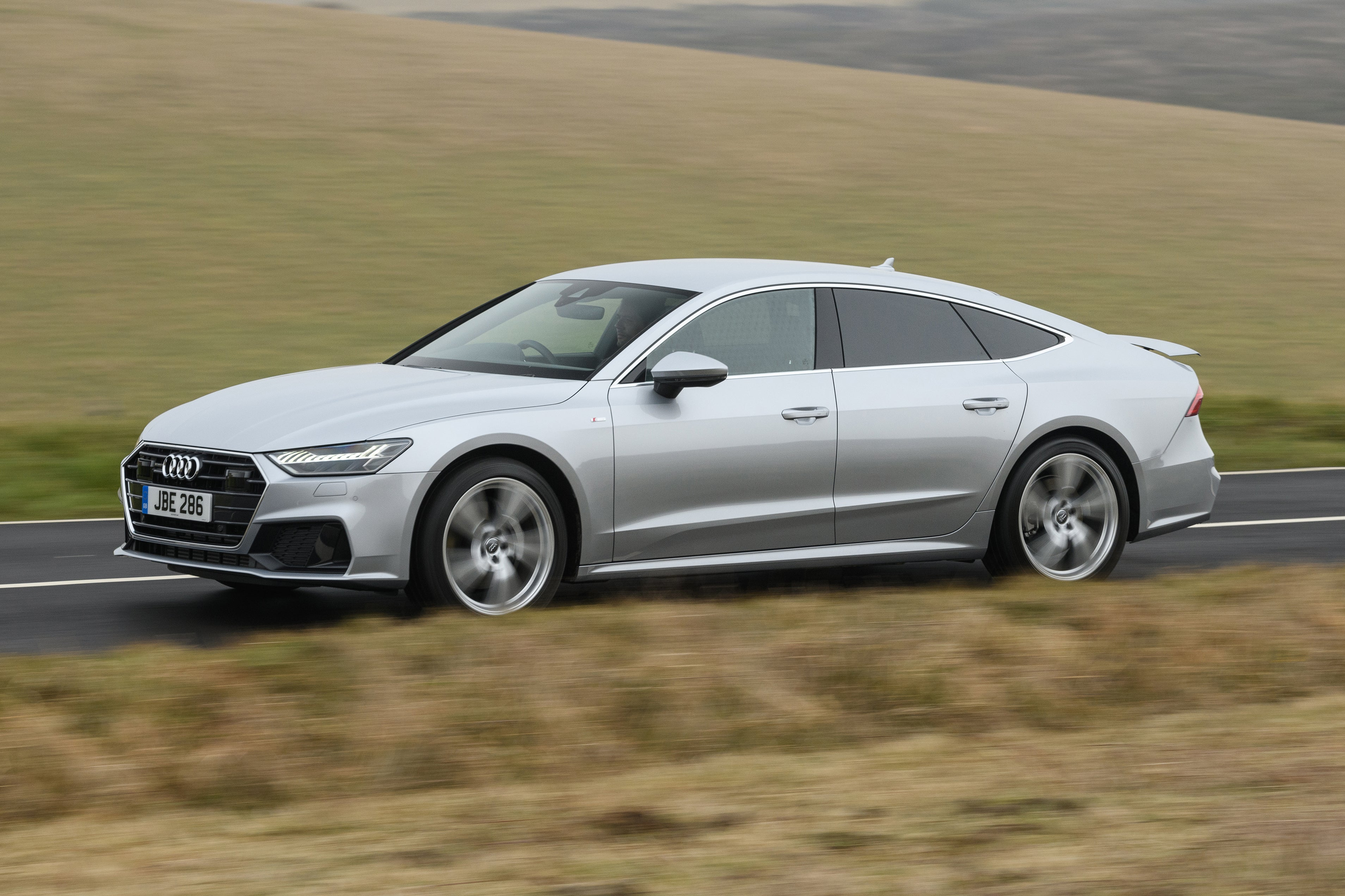 Audi A7 Sportback silver on road