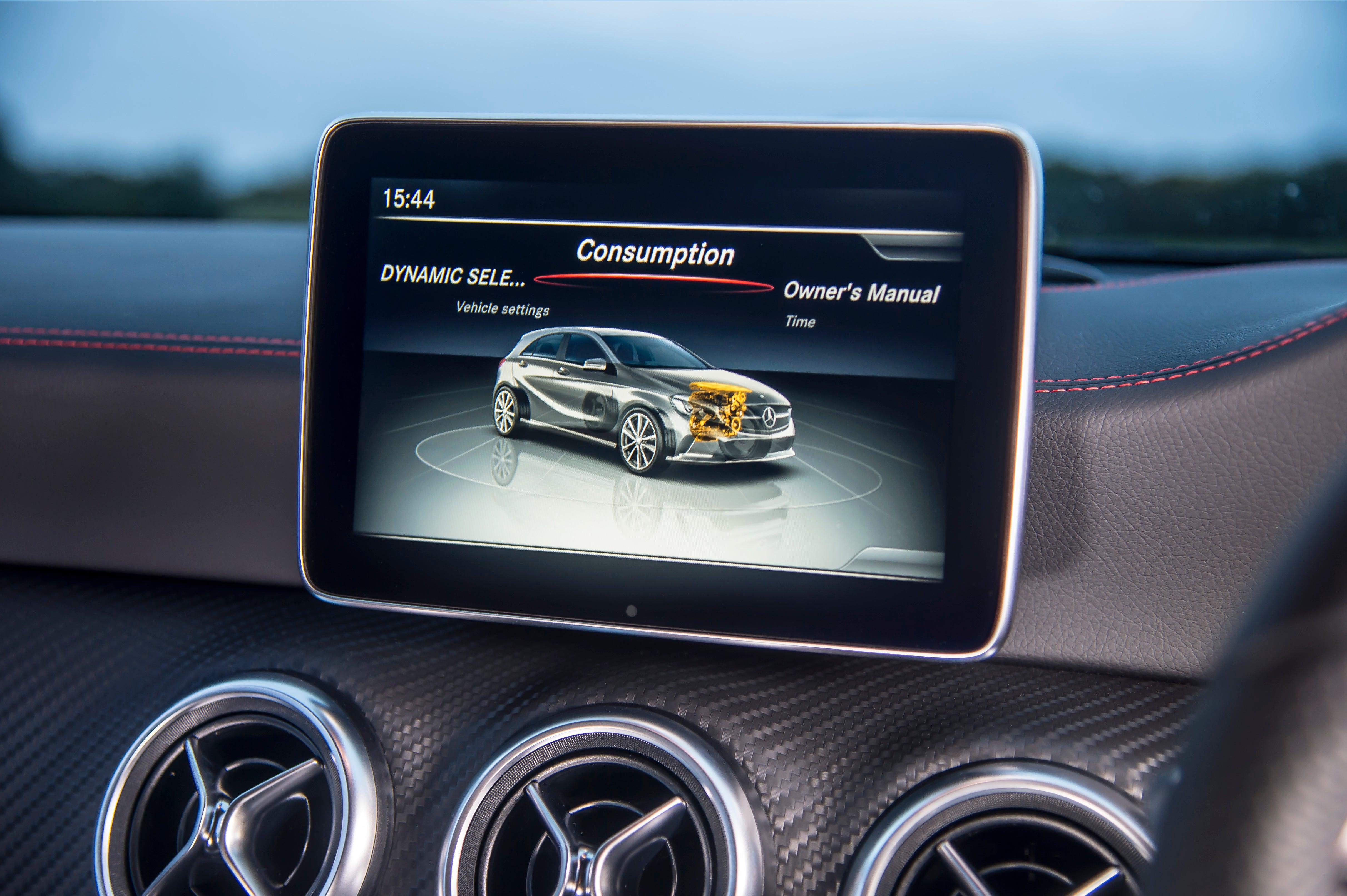 Mercedes A-Class central console