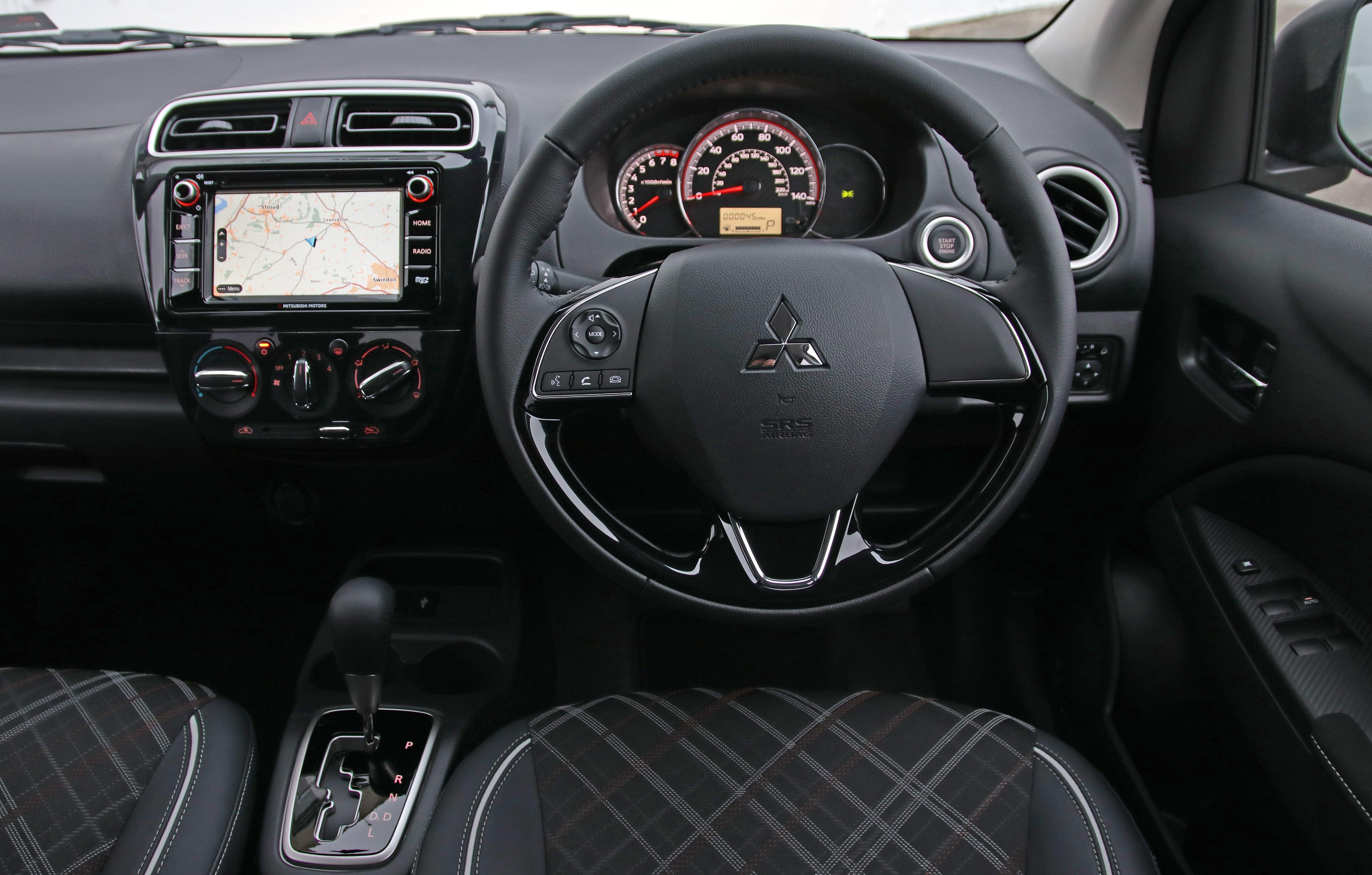 Mitsubishi Mirage front interior