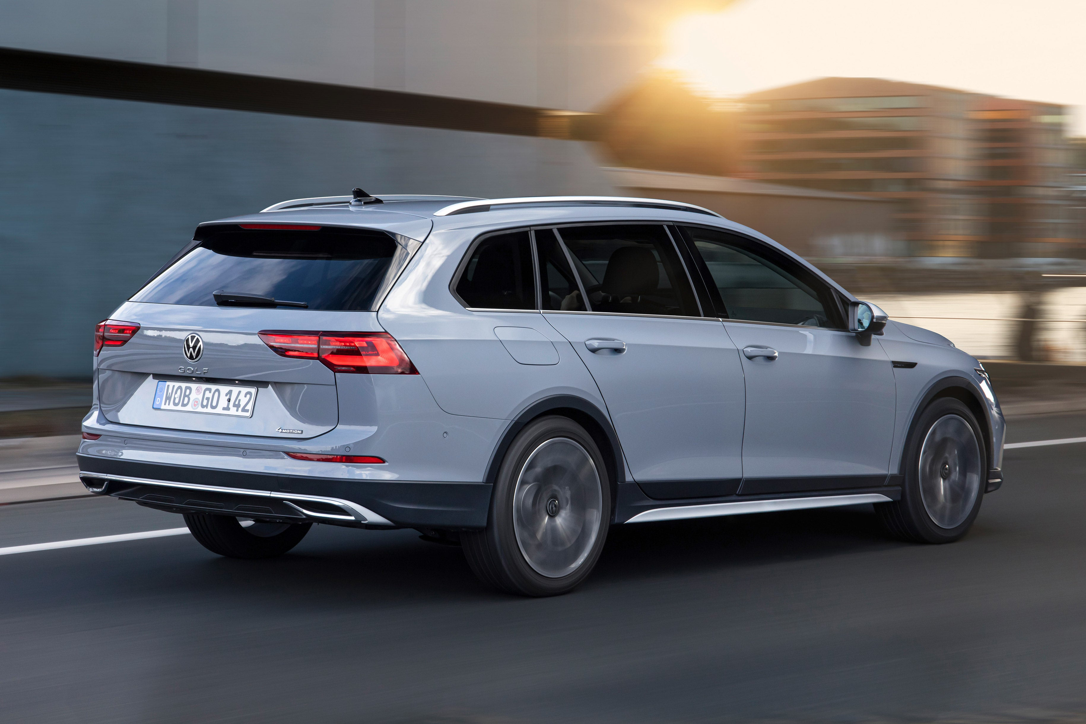 Spot the Alltrack features: namely exterior body cladding and a small increase in ride height