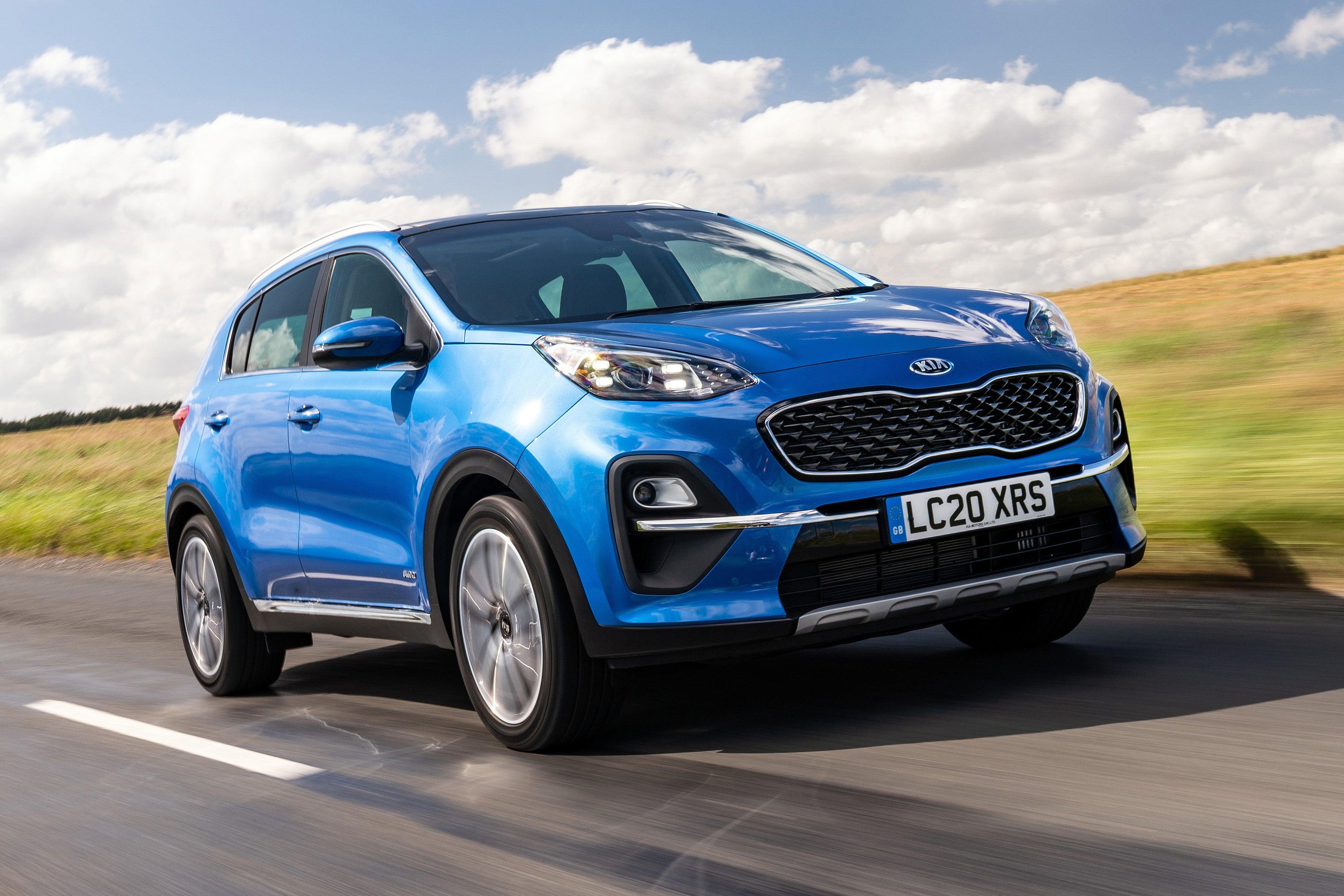 Kia Sportage 20 plate blue