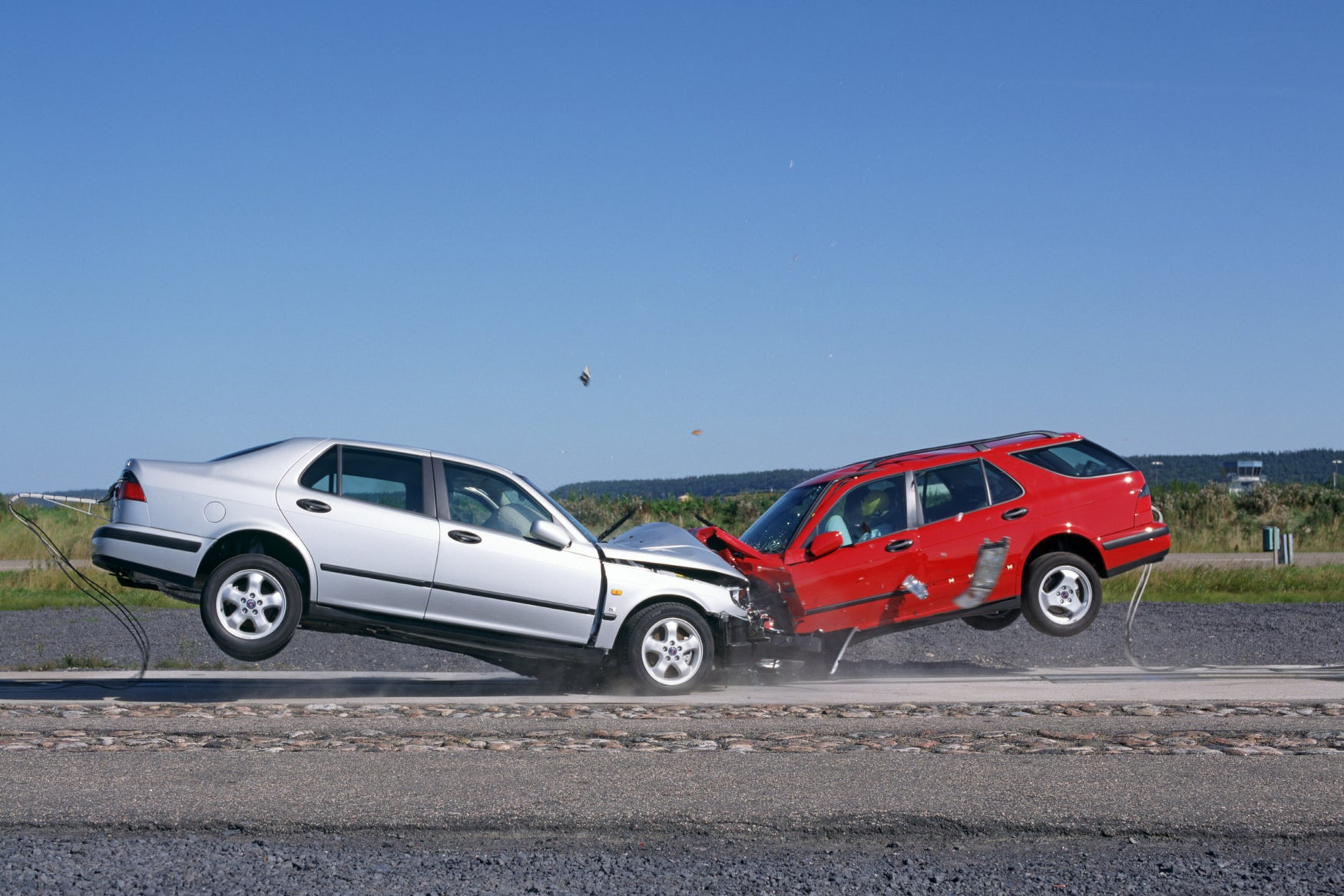 Saab crash test