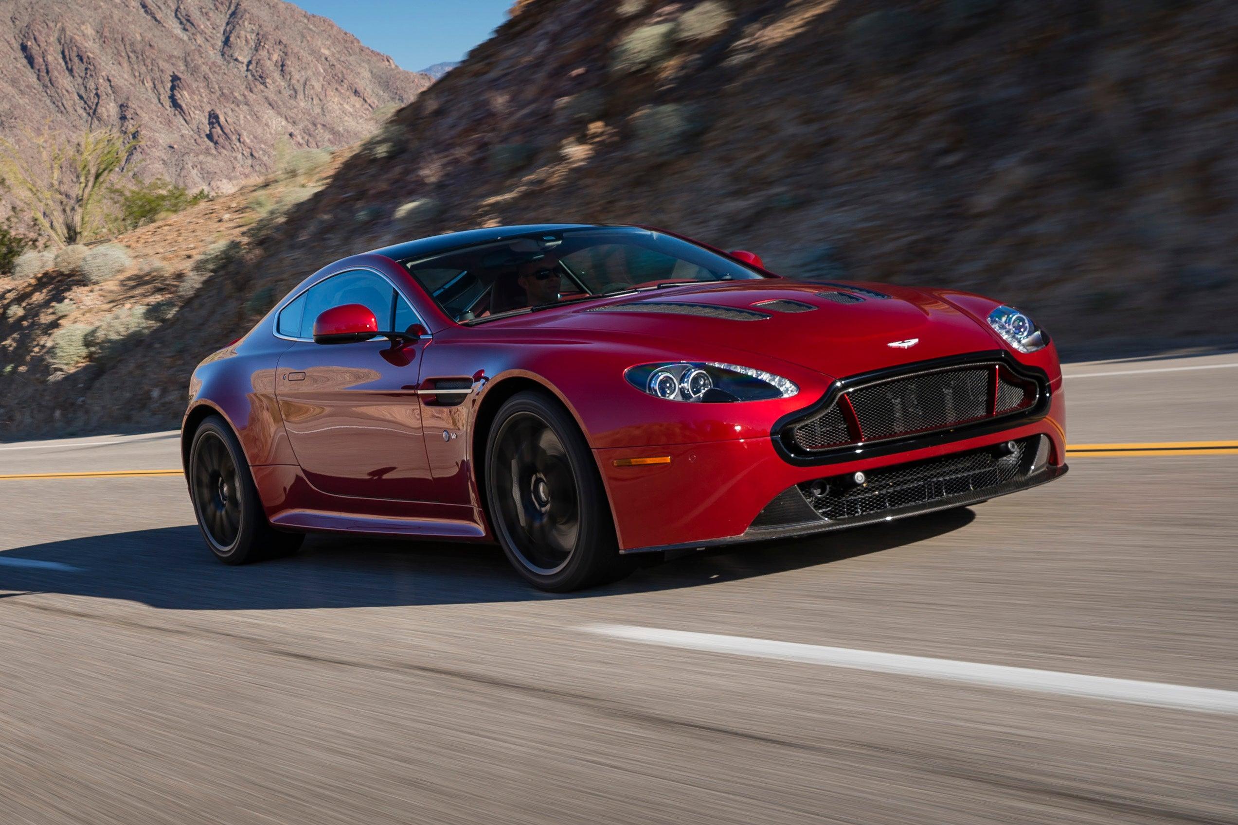Aston Martin V12 Vantage on road