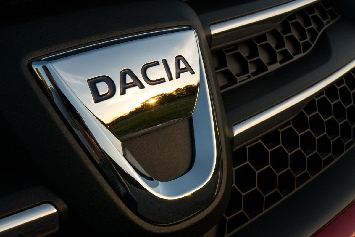 Dacia badge on grille