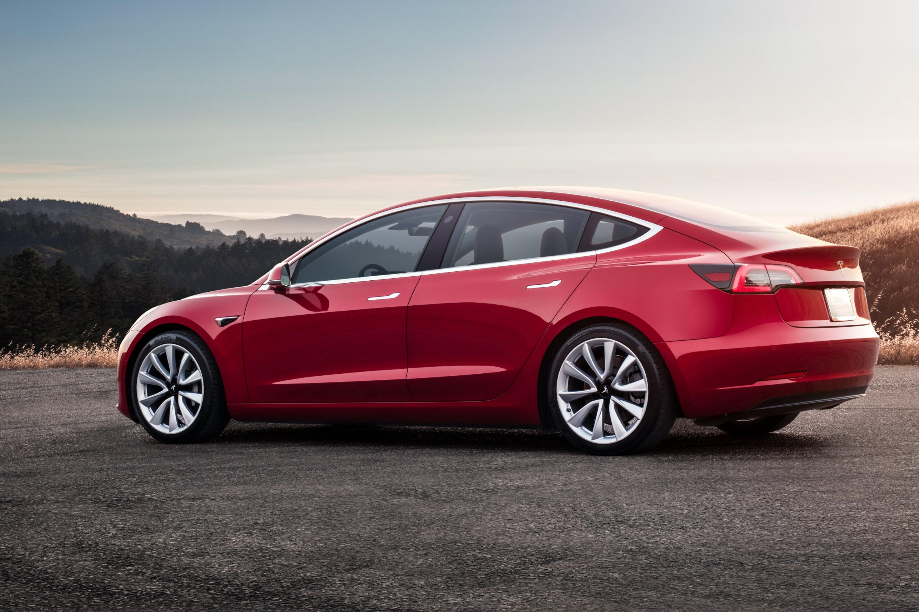 Tesla Model 3 Left Side View