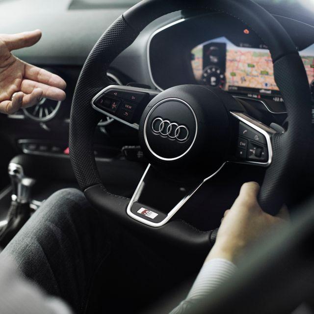The inside of an Audi car