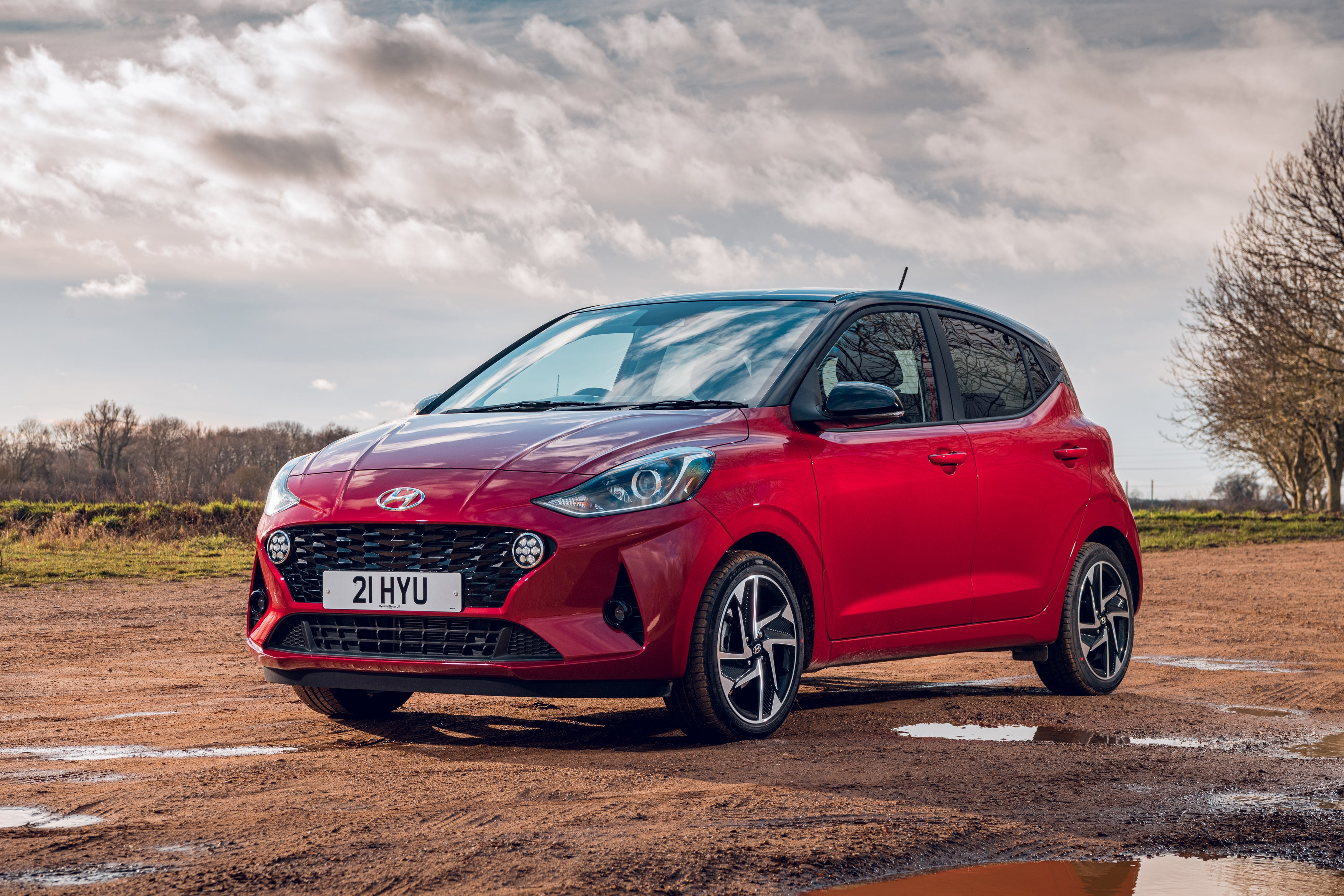 The front view of Hyundai i10.