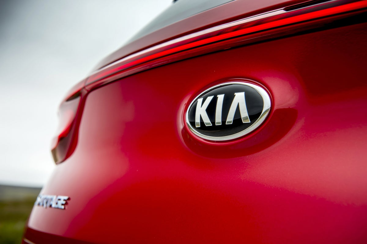 Kia Sportage boot badge
