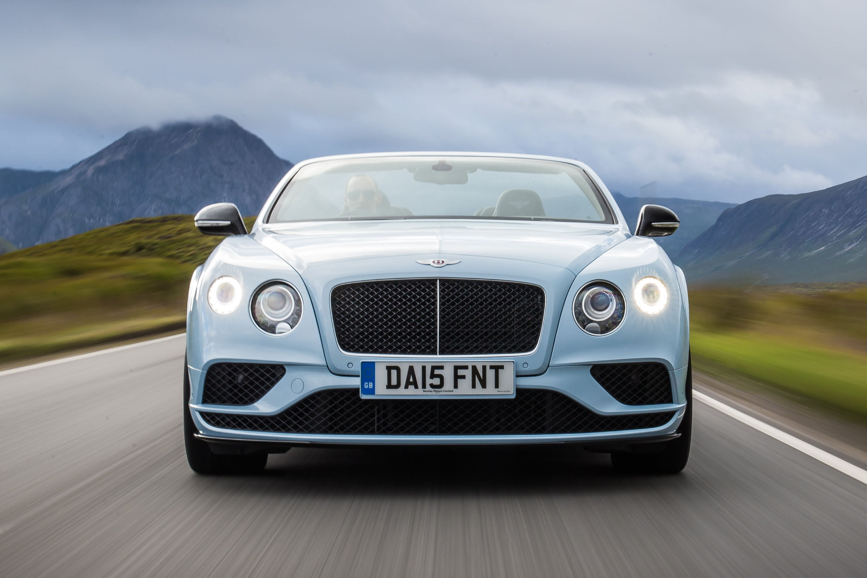 Bentley Continental GTC Driving Front