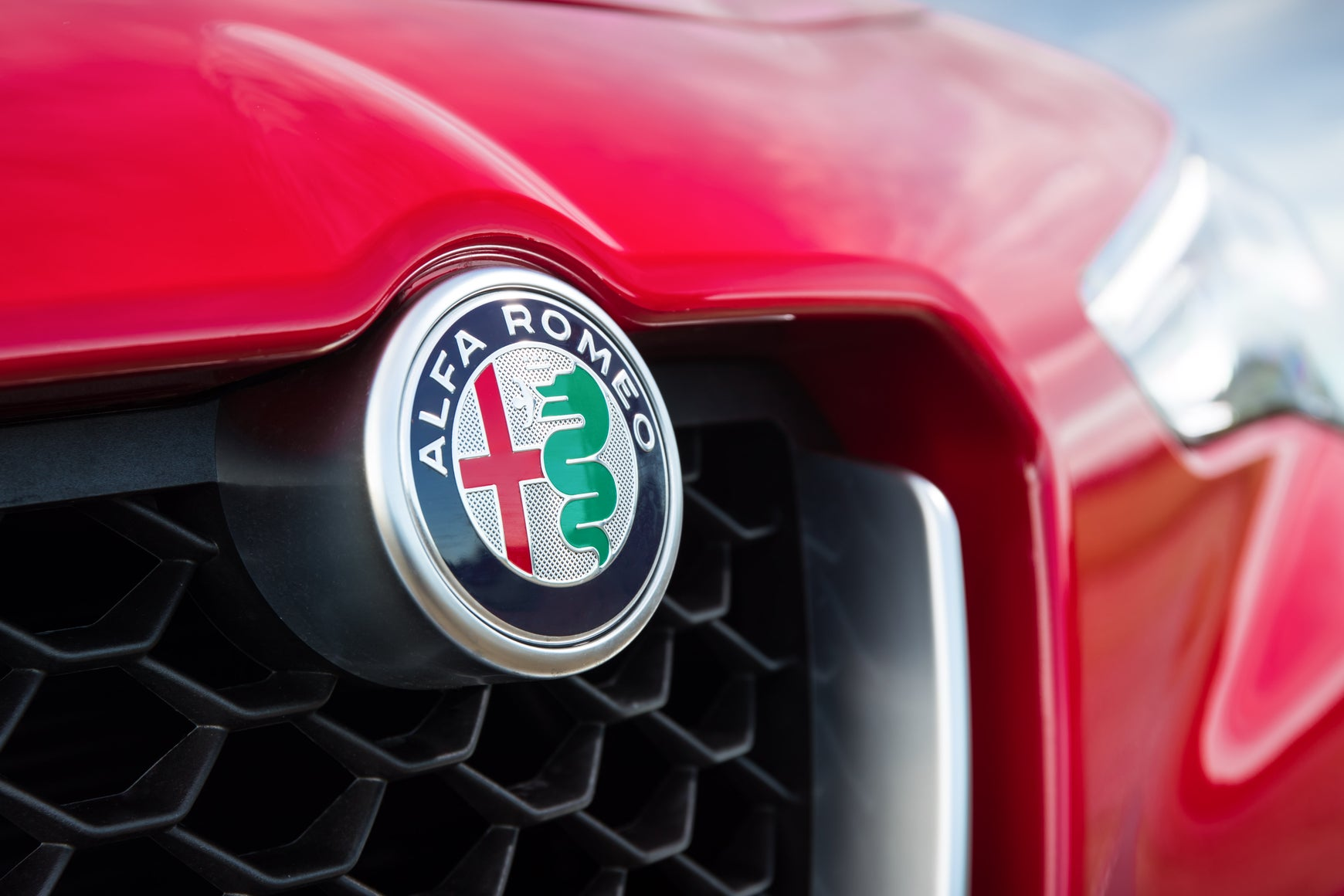 Alfa Romeo badge on grille