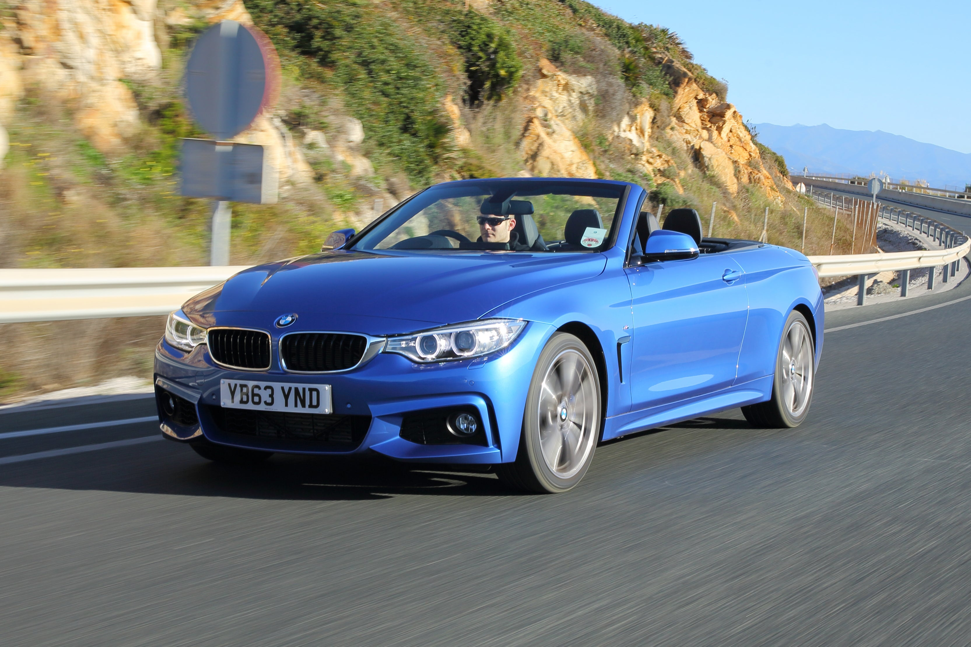 BMW 4 Series Convertible Driving Front
