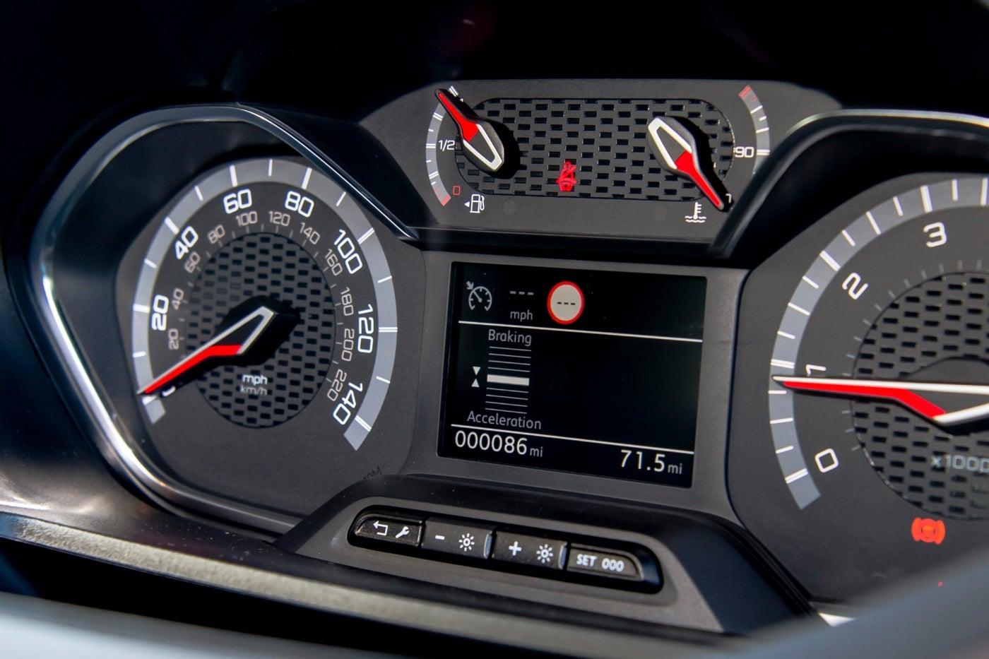 Peugeot Rifter instruments