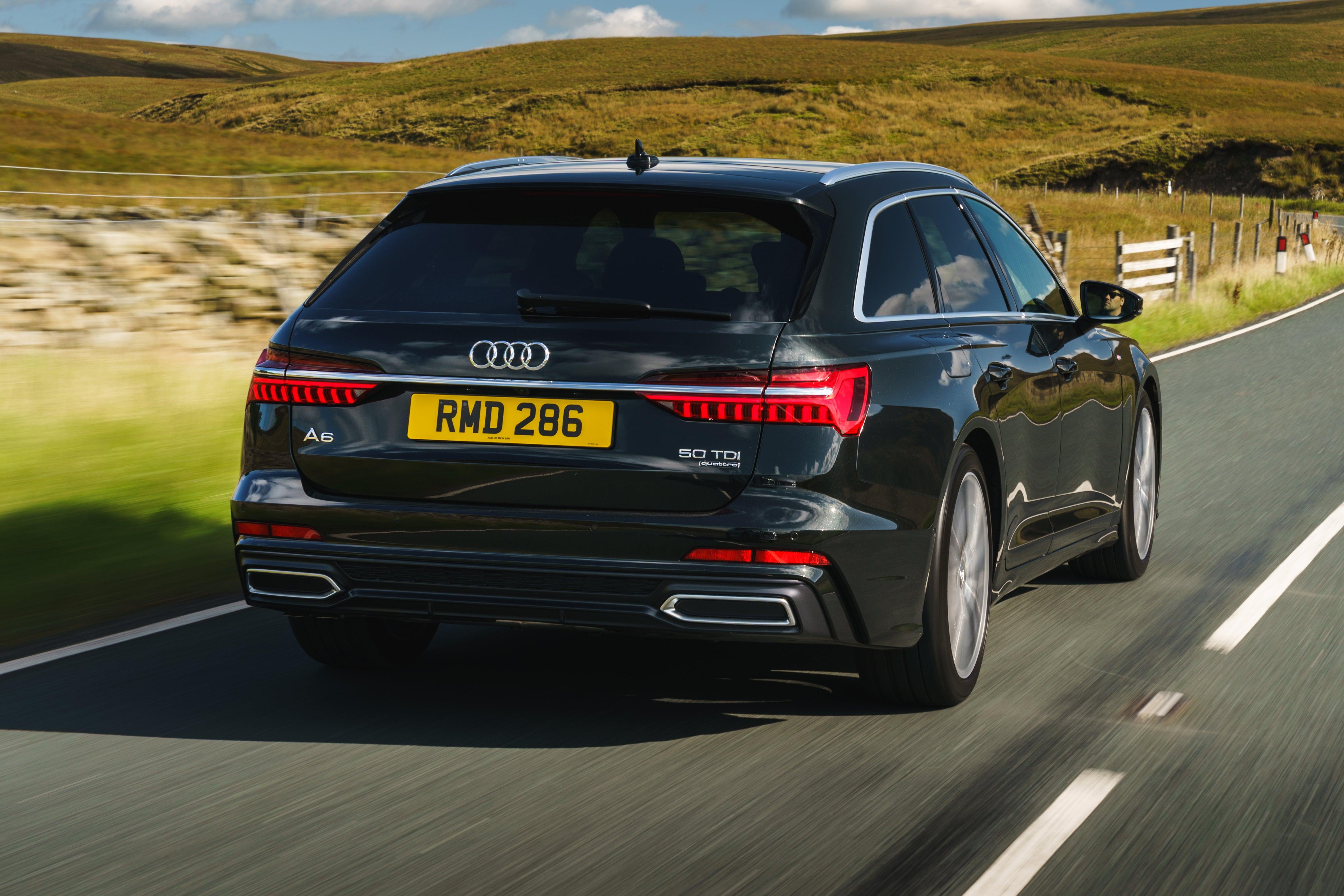 Audi A6 Avant Driving Back