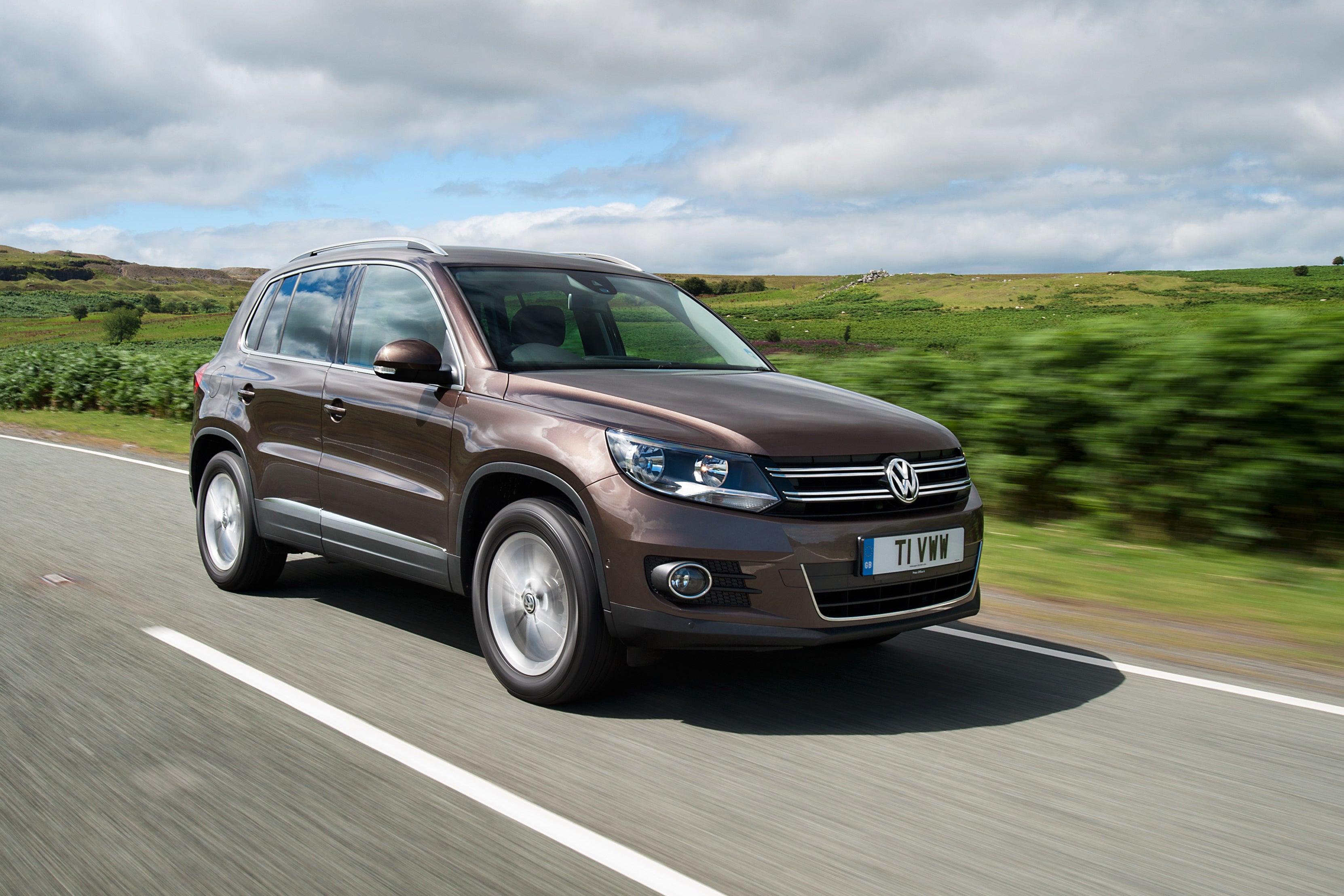 Volkswagen Tiguan on road