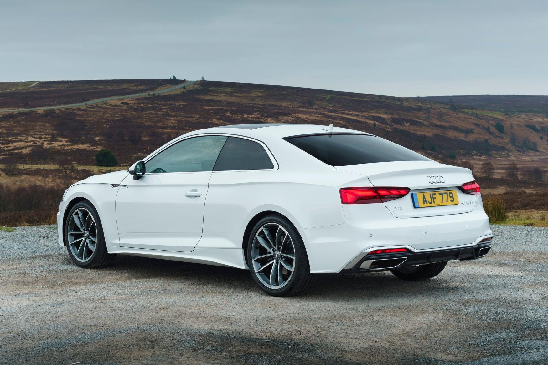 2020 Audi A5 static rear-three quarter