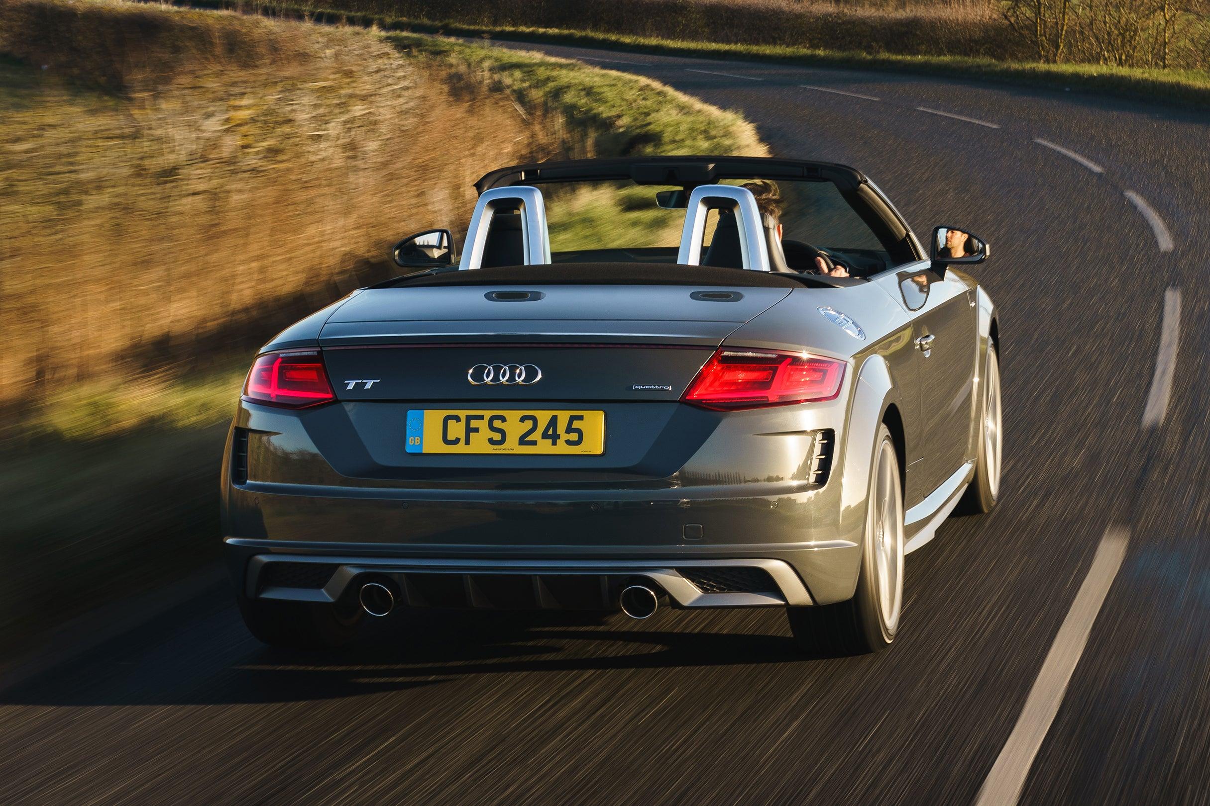 Audi TT Roadster Driving Back