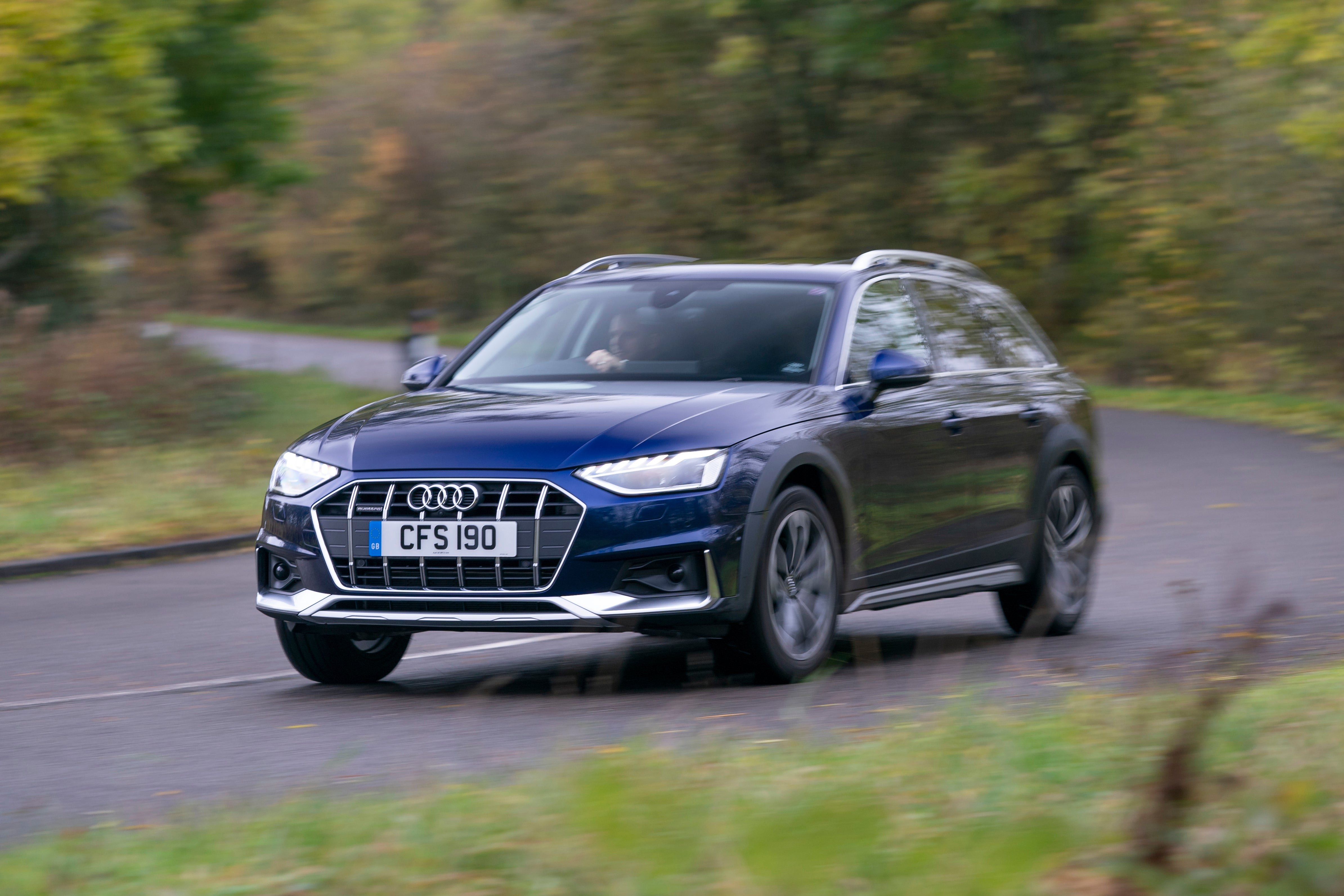 Audi A4 Allroad Driving Front