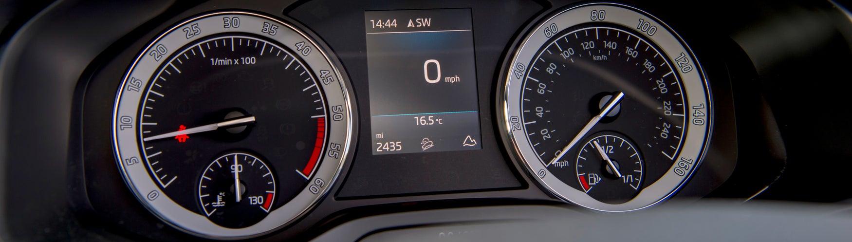 Low mileage dashboard