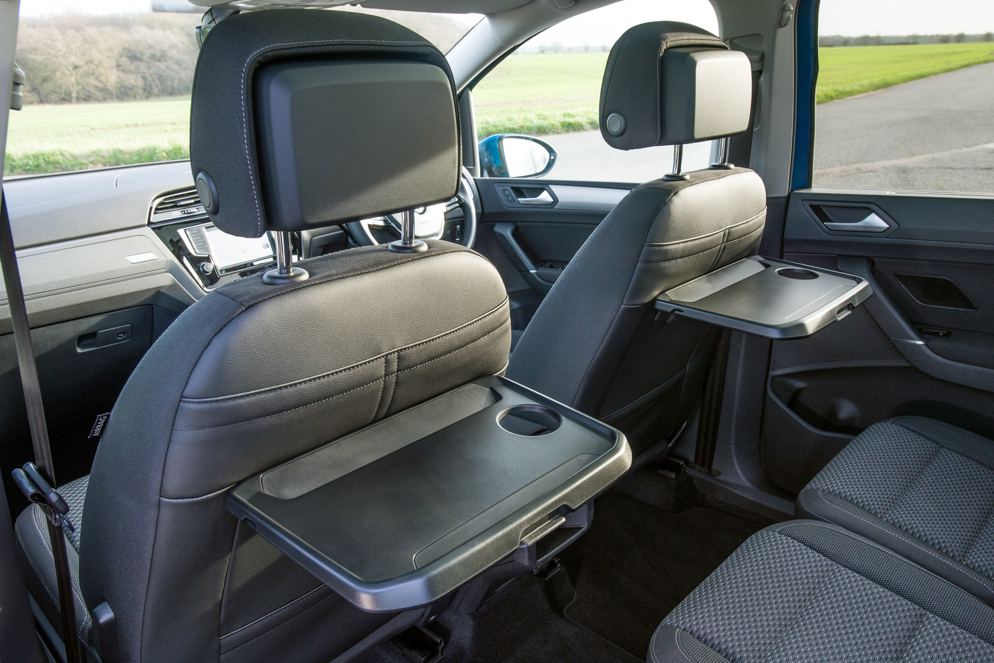 Volkswagen Touran interior rear seat tables