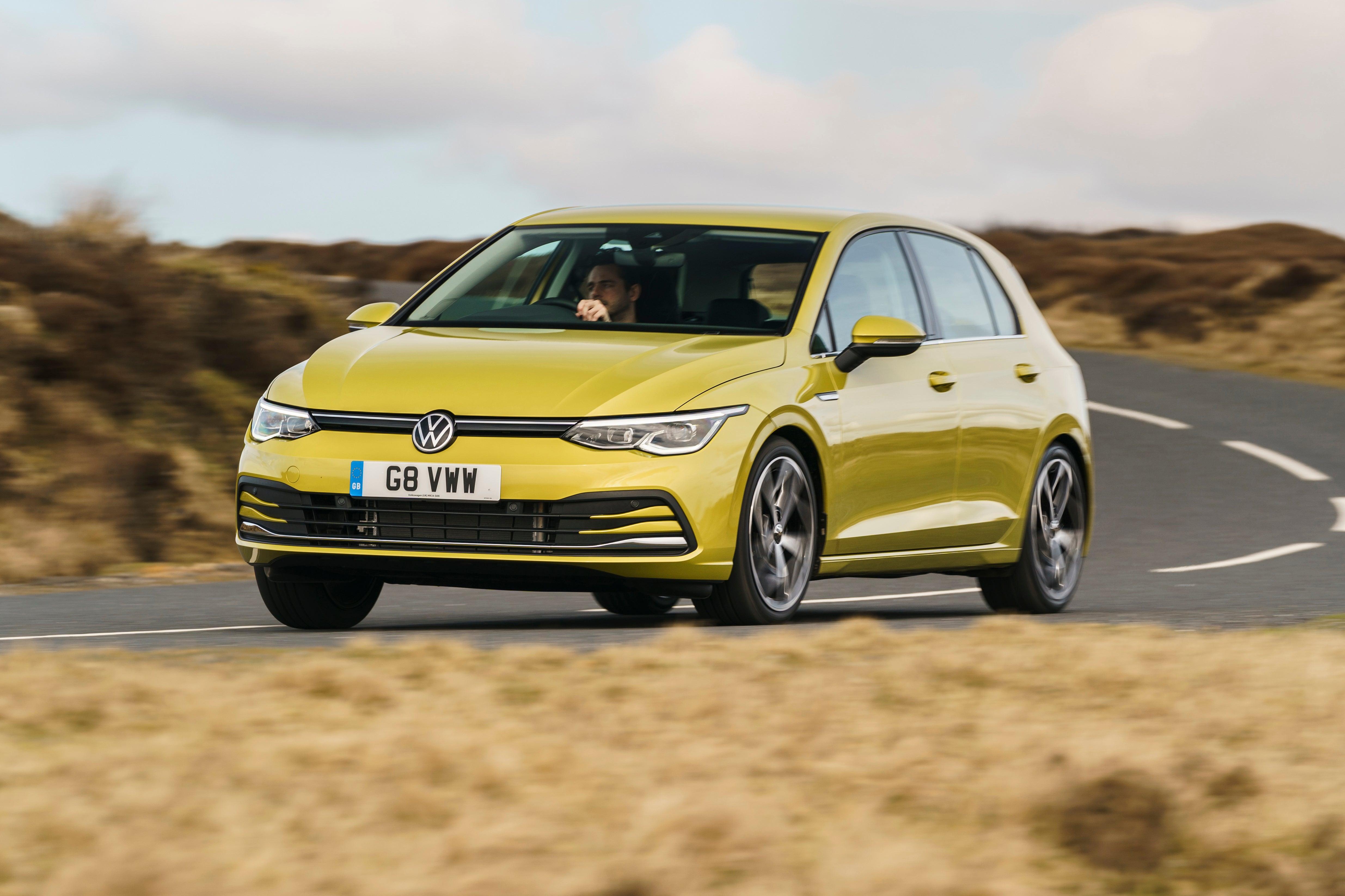 Volkswagen Golf driving corner