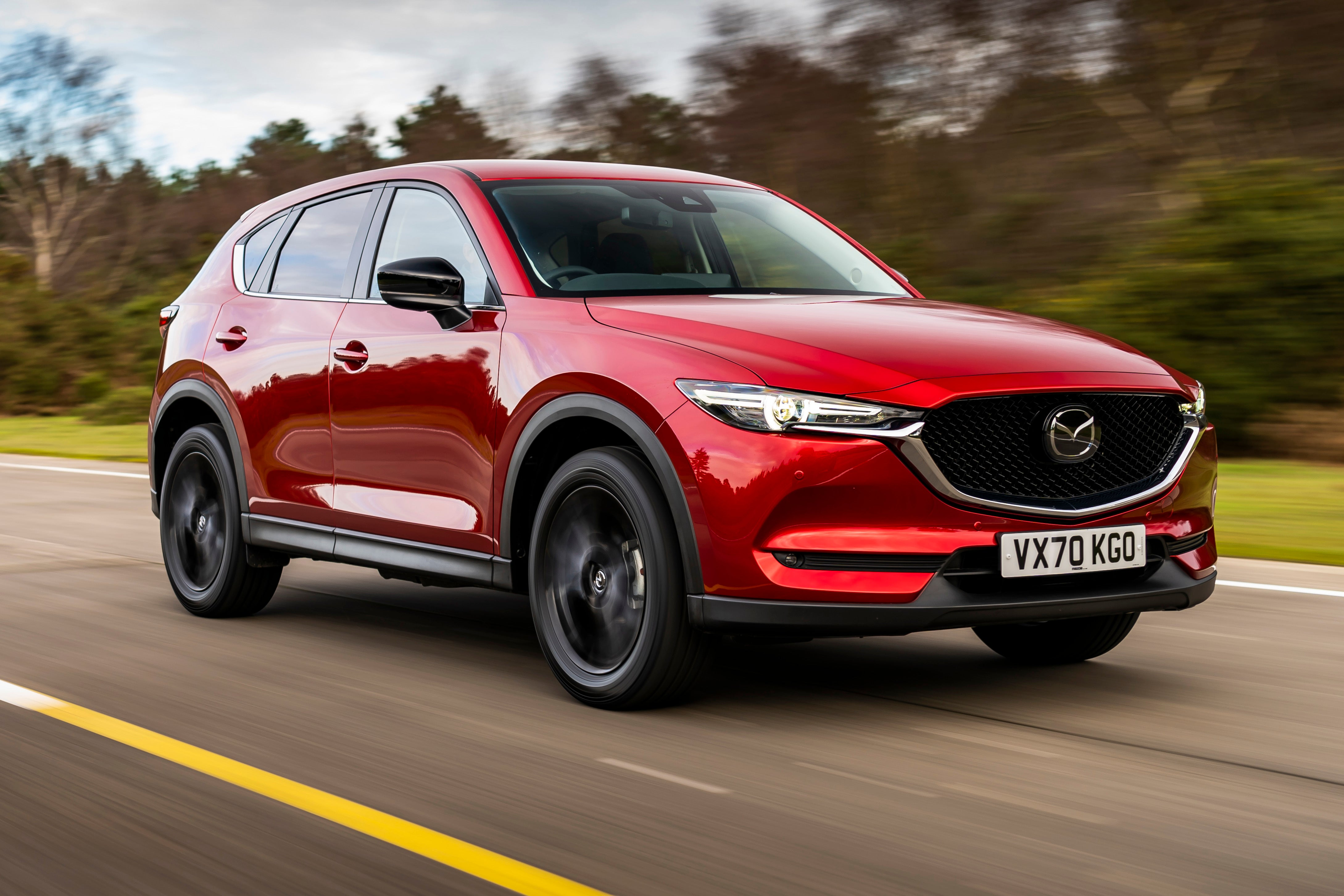 Mazda CX-5 on road driving