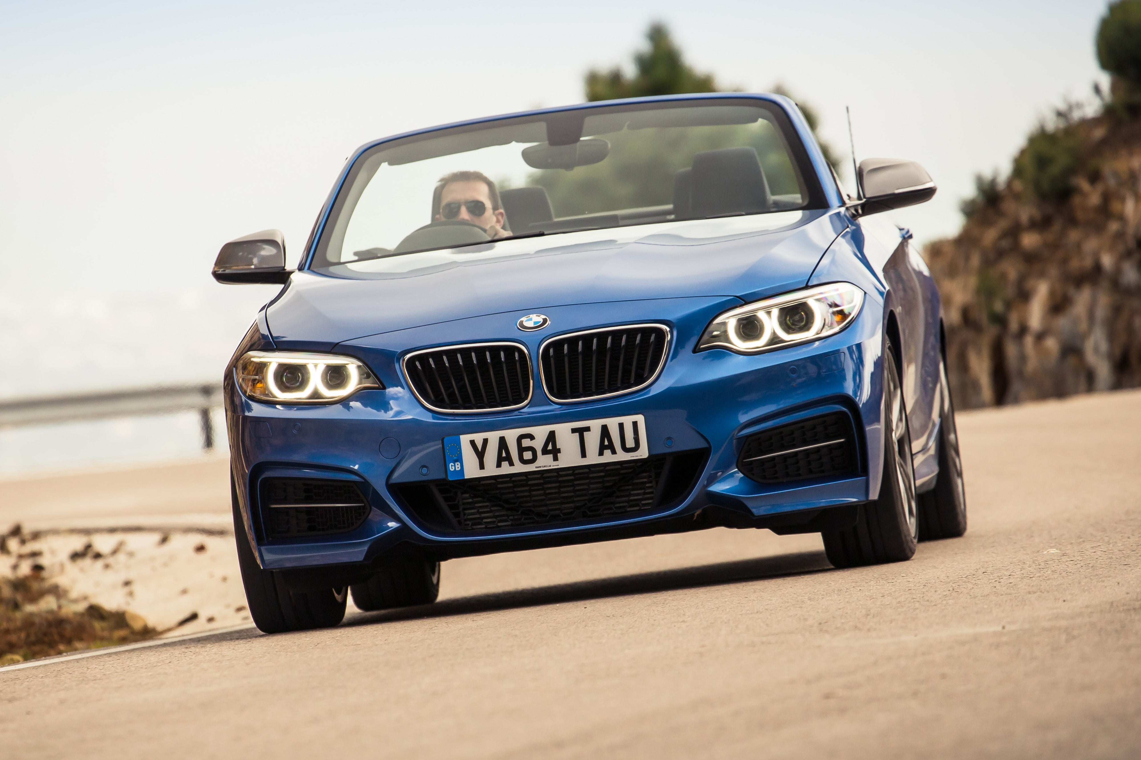 BMW 2 Series Convertible Driving Front