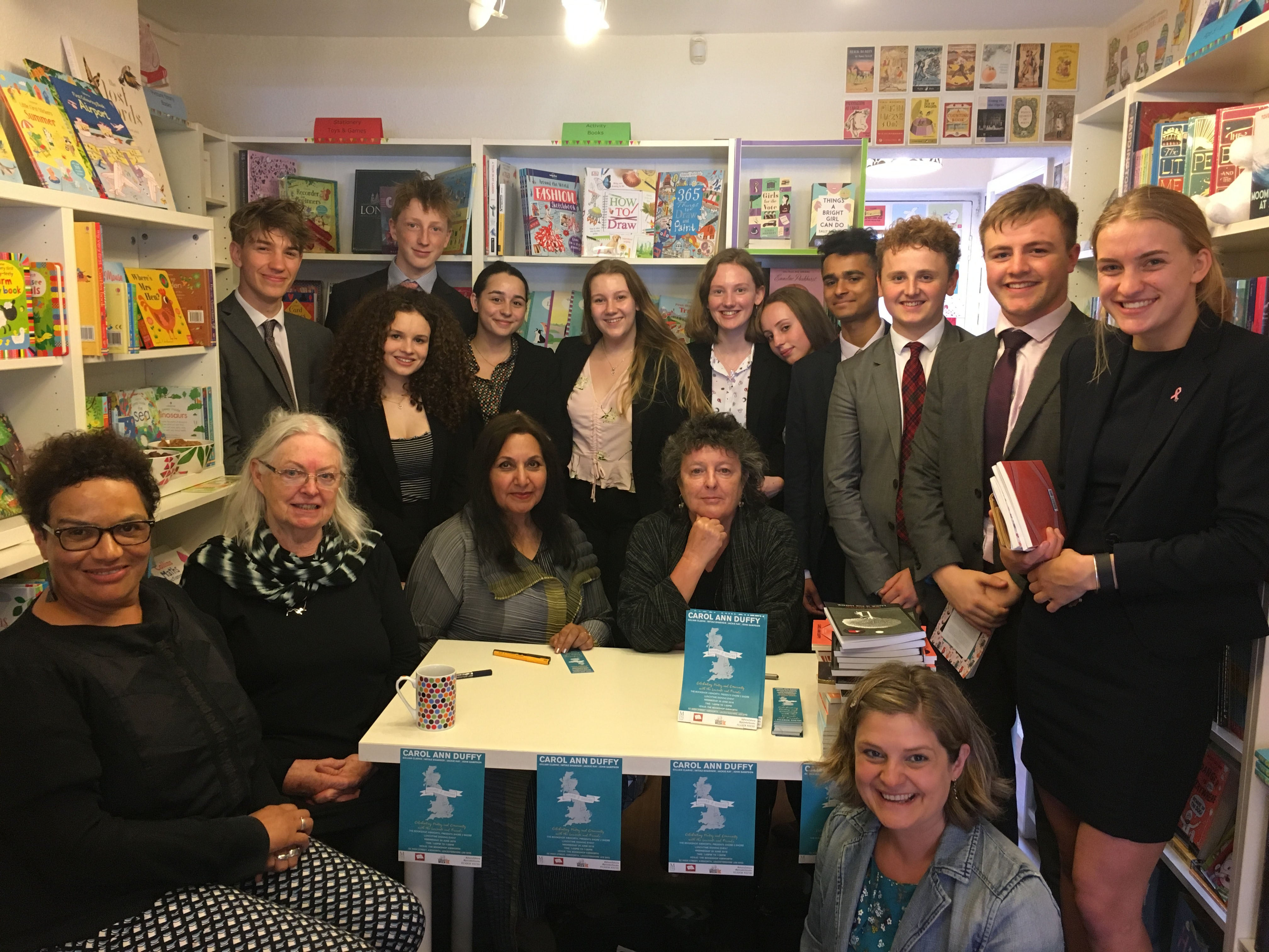 Poets and readers in Kibworth Bookshop