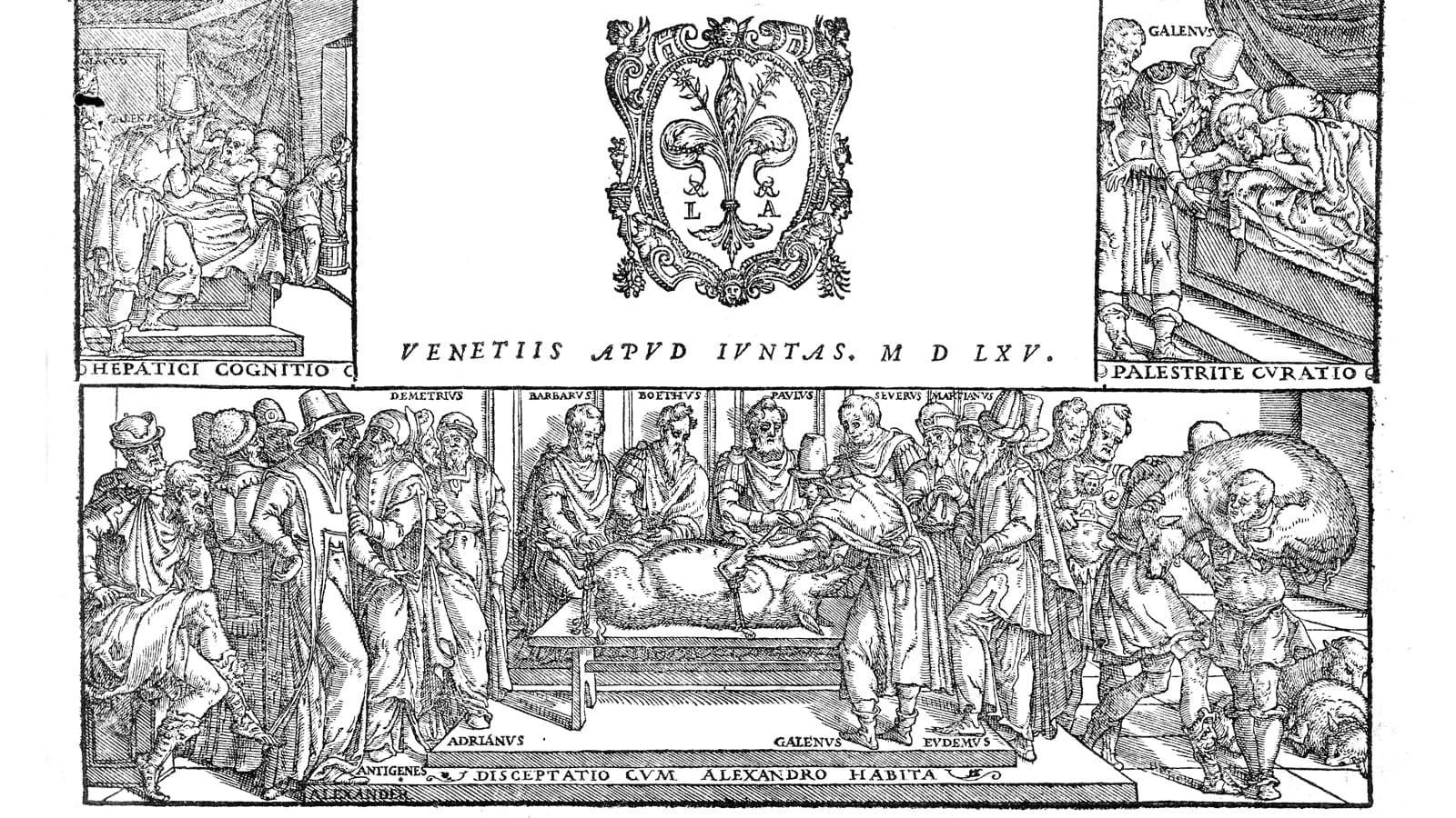 Roman Illustration of Galen conducting a public dissection of a pig