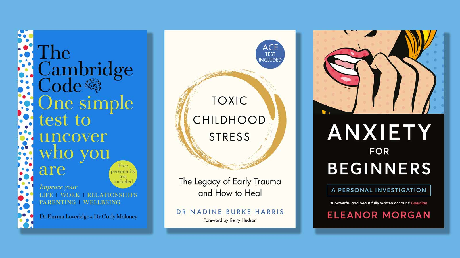 The Cambridge Code, Toxic Childhood Stress and Anxiety for Beginners book covers