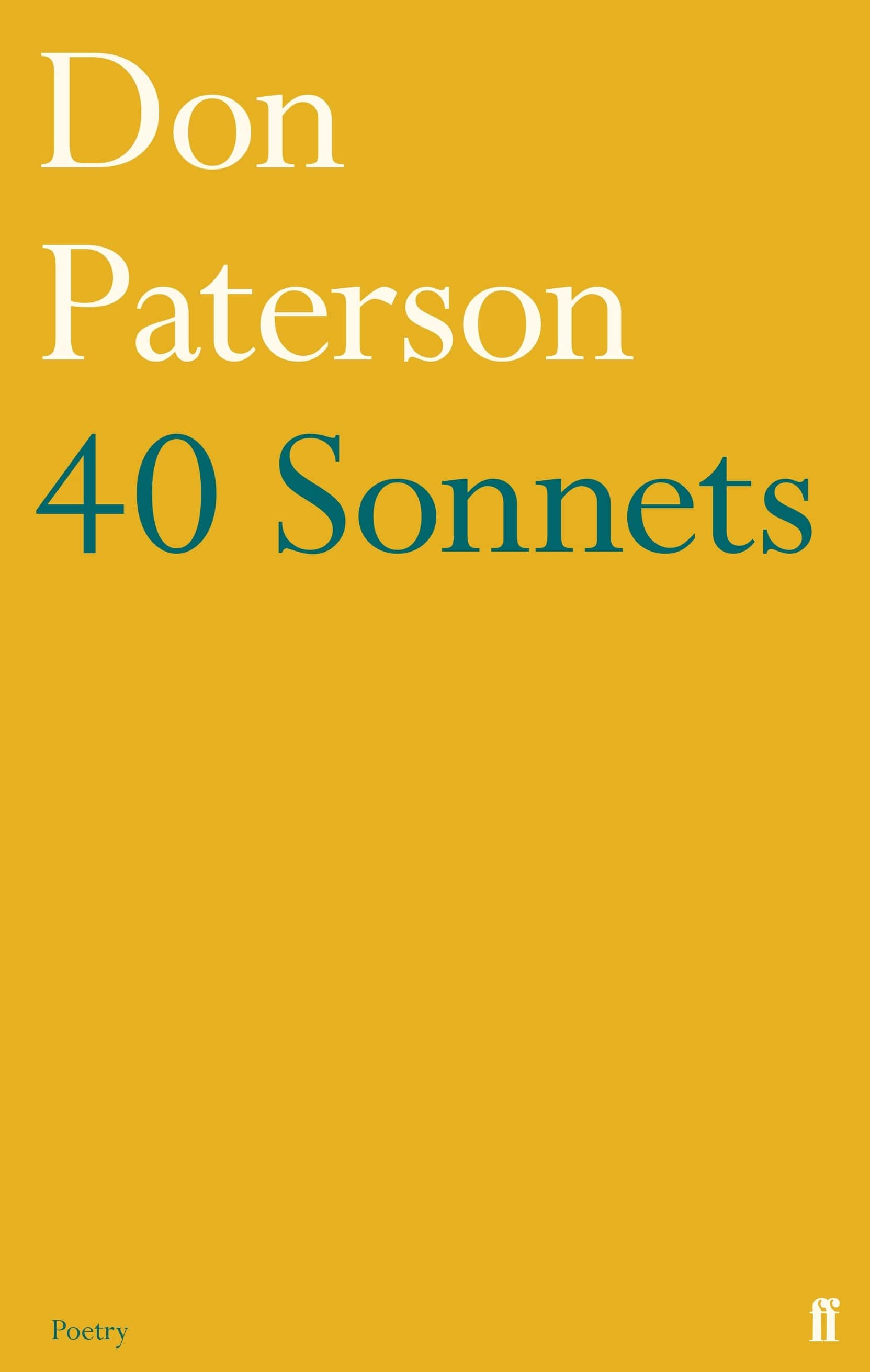 Book cover for 40 Sonnets