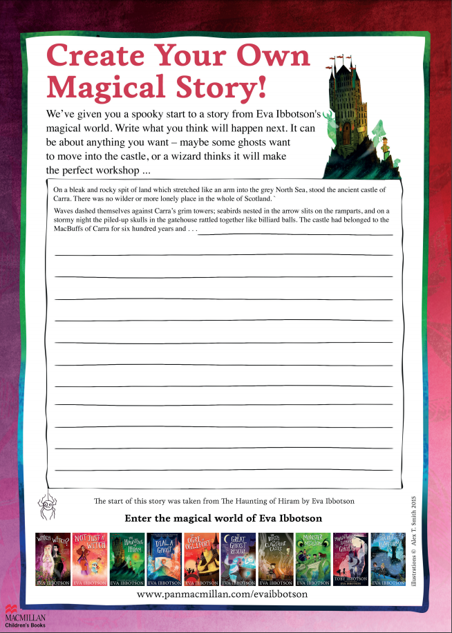 Activity sheet to create your own story