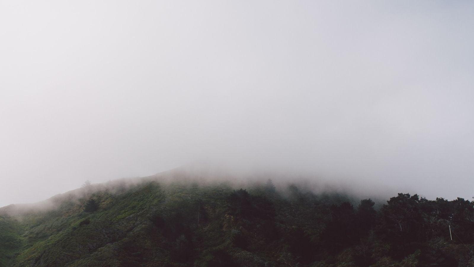 Hill shroud in mist