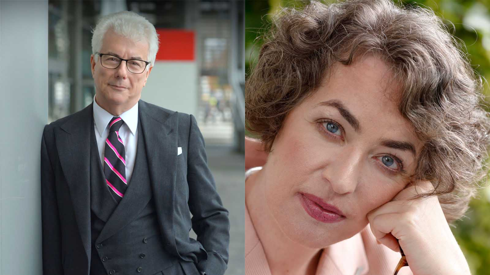 Photograph of Ken Follett and Kate Clanchy